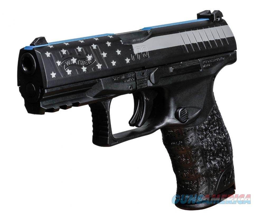 Walther PPQ M2 9mm 4in Black Blue Line  Guns > Pistols > Walther Pistols > Post WWII > P99/PPQ