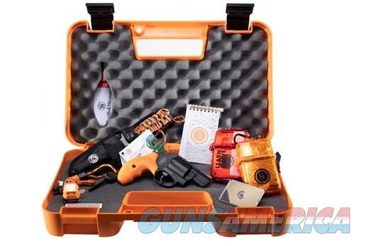 SW 360 .357mag 1.875in Black Orange Grip Survival Kit  Guns > Pistols > Smith & Wesson Revolvers > Small Frame ( J )