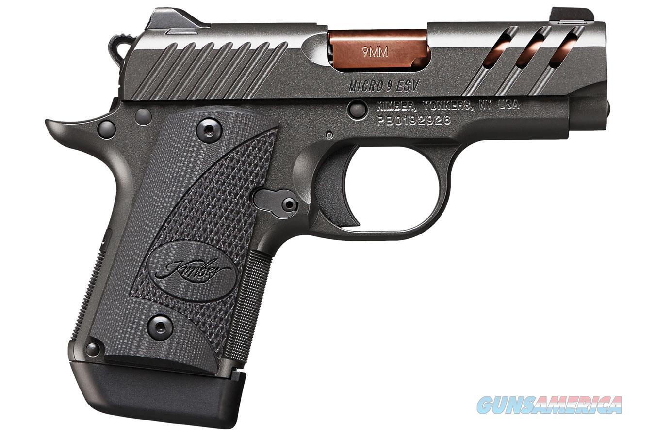 Kimber Micro ESV 9mm TiCN Rose Copper 3.15in Barrel  Guns > Pistols > Kimber of America Pistols > Micro