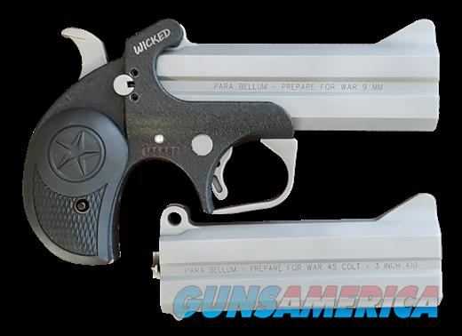 Bond Arms Wicked Package 9mm 45 Colt 4.25 in. 2 rds.  Guns > Pistols > Bond Derringers