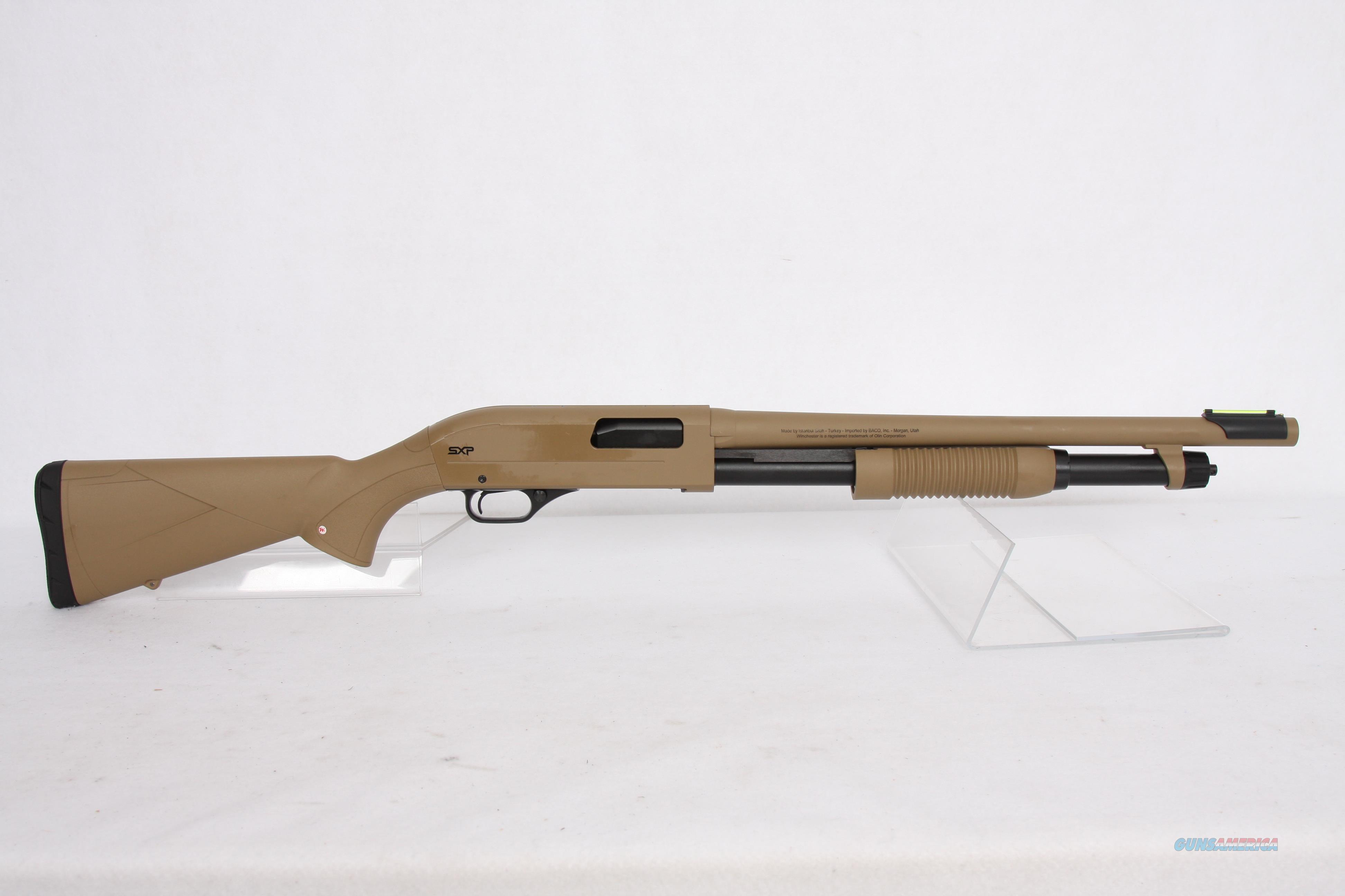 Winchester SXP Dark Earth Defender 12g  Guns > Shotguns > Winchester Shotguns - Modern > Pump Action > Defense/Tactical