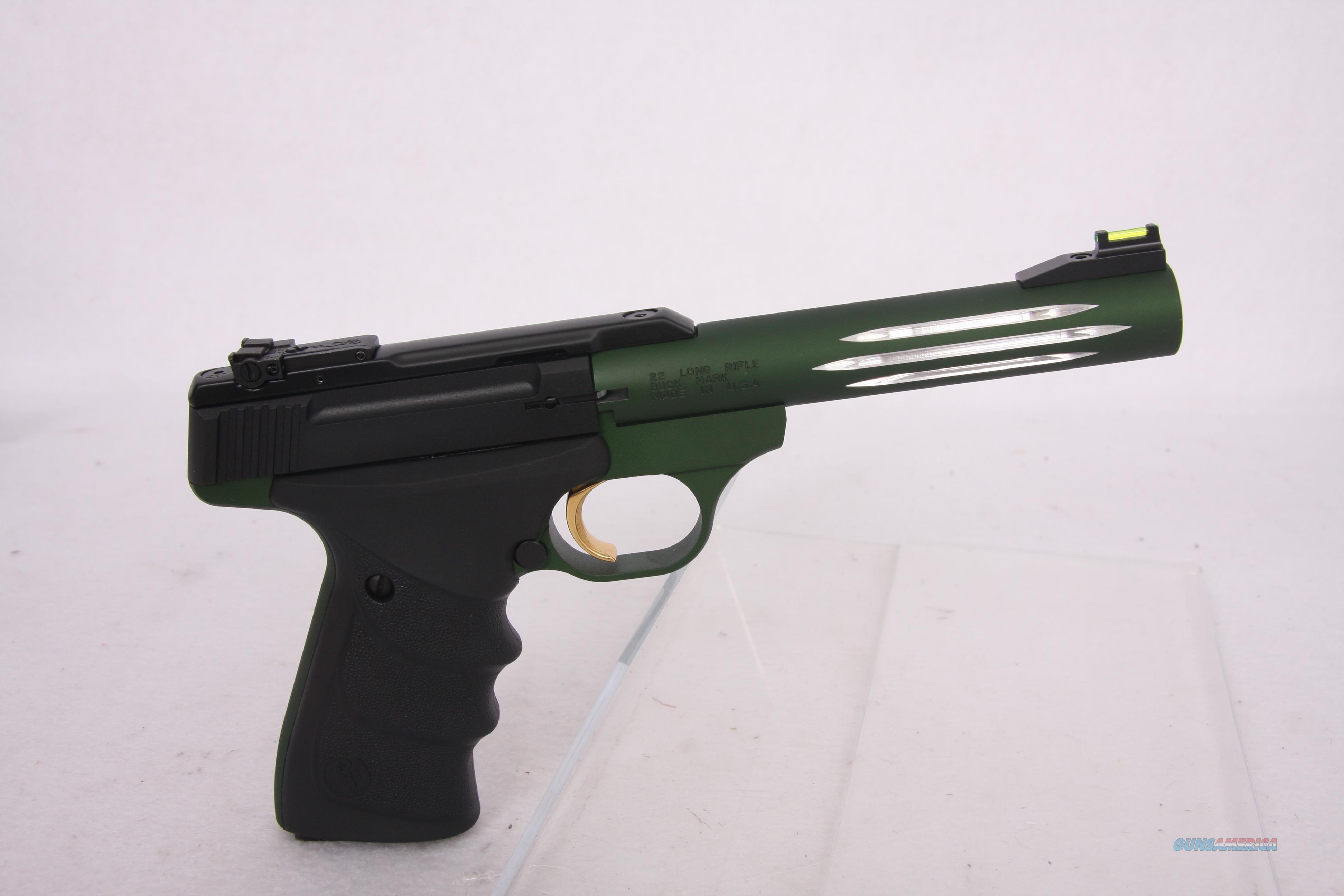 Browning Buck Mark Lite Green URX .22Lr 5.5in  Guns > Pistols > Browning Pistols > Buckmark