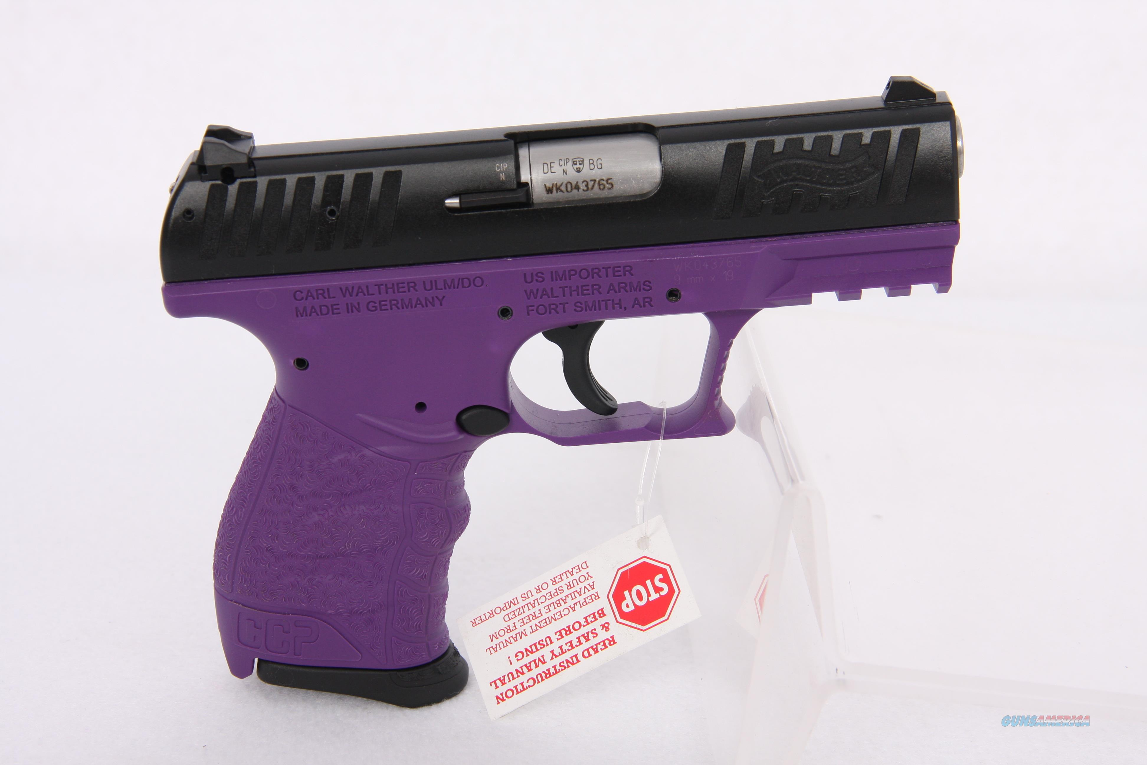 Walther CCP 9mm 3.64in 8rd Purple Black  Guns > Pistols > Walther Pistols > Post WWII > P5