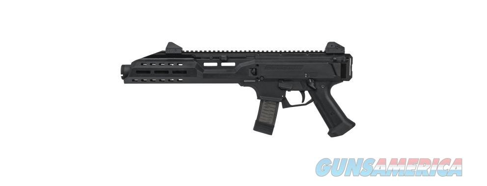 CZ Scoprion EVO 9mm Flash Can 7.7in Black  Guns > Rifles > CZ Rifles