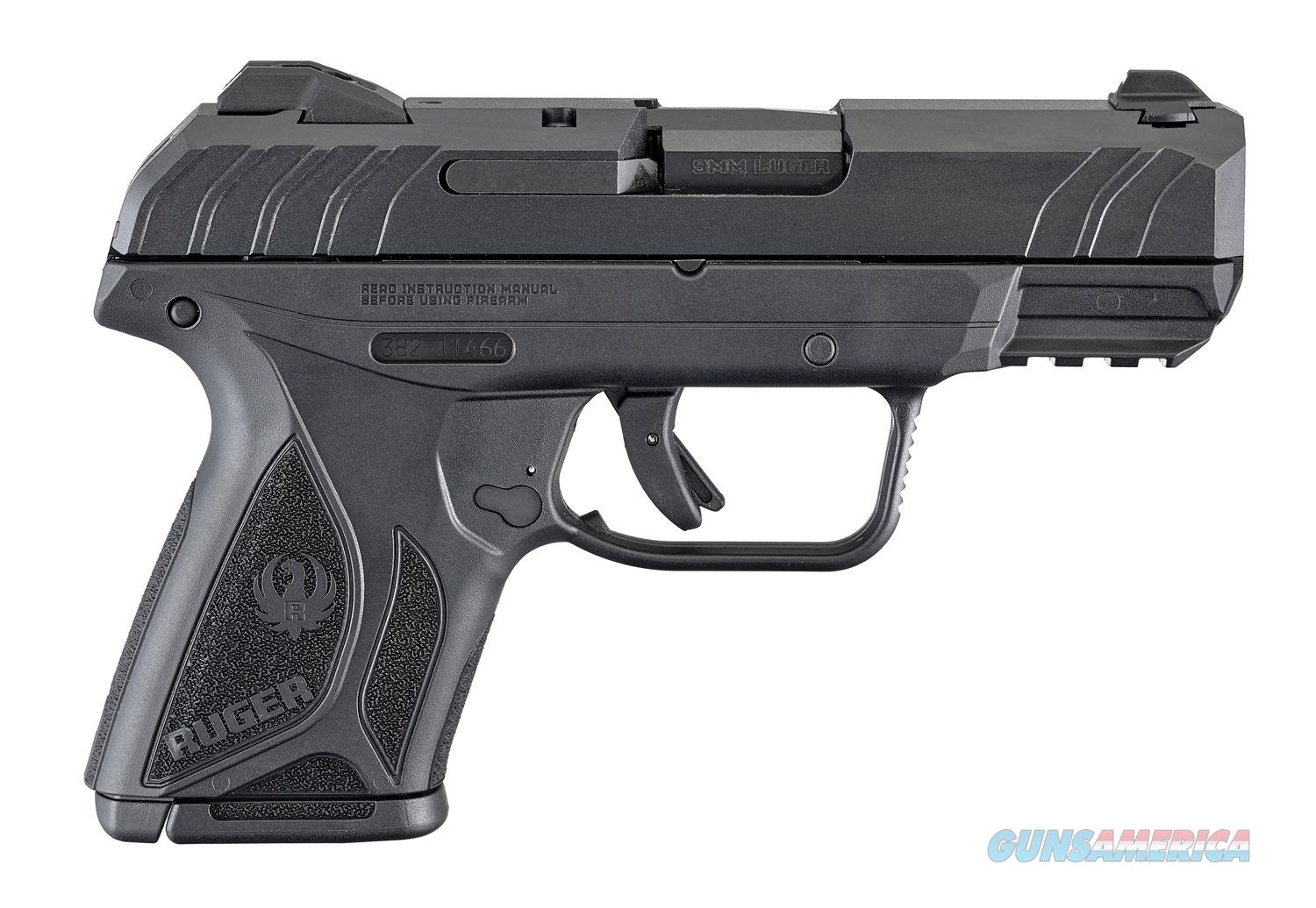 Ruger Security 9 Compact 9mm 3.42in Black  Guns > Pistols > Ruger Semi-Auto Pistols > Security 9