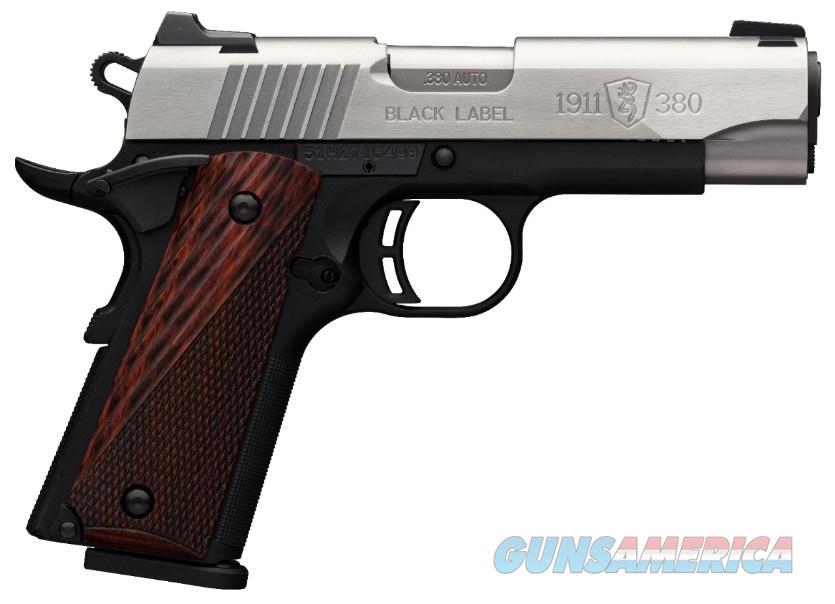 Browning 1911-380 Black Label Medallion Stainless .380acp Compact  Guns > Pistols > Browning Pistols > Other Autos