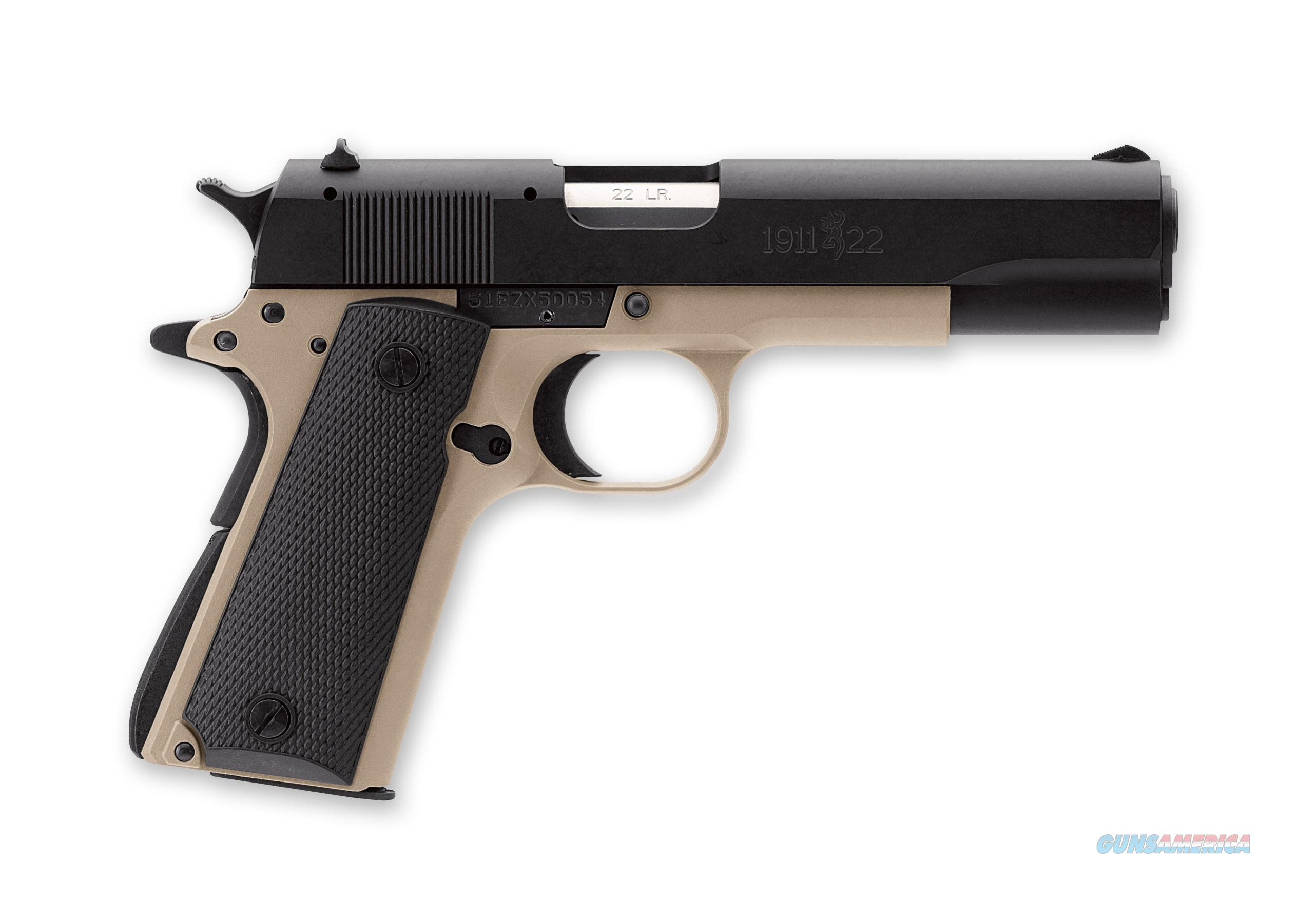 Browning 1911 .22Lr Desert Tan Comp  Guns