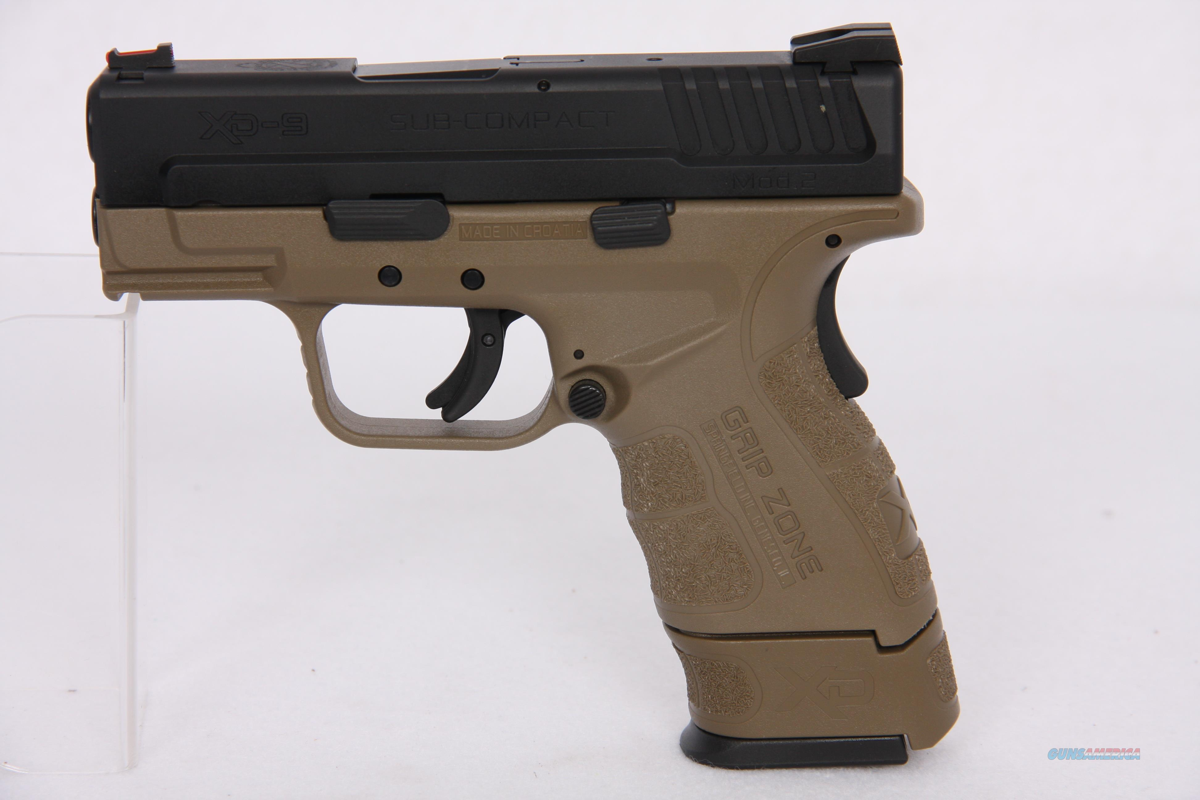 Springfield XD-G 9mm FDE 3in 13rd  Guns > Pistols > Springfield Armory Pistols > XD (eXtreme Duty)