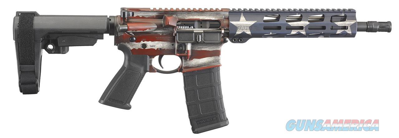 Ruger AR-556 Pistol 223 Rem/5.56 NATO American Flag  Guns > Rifles > Ruger Rifles > AR Series