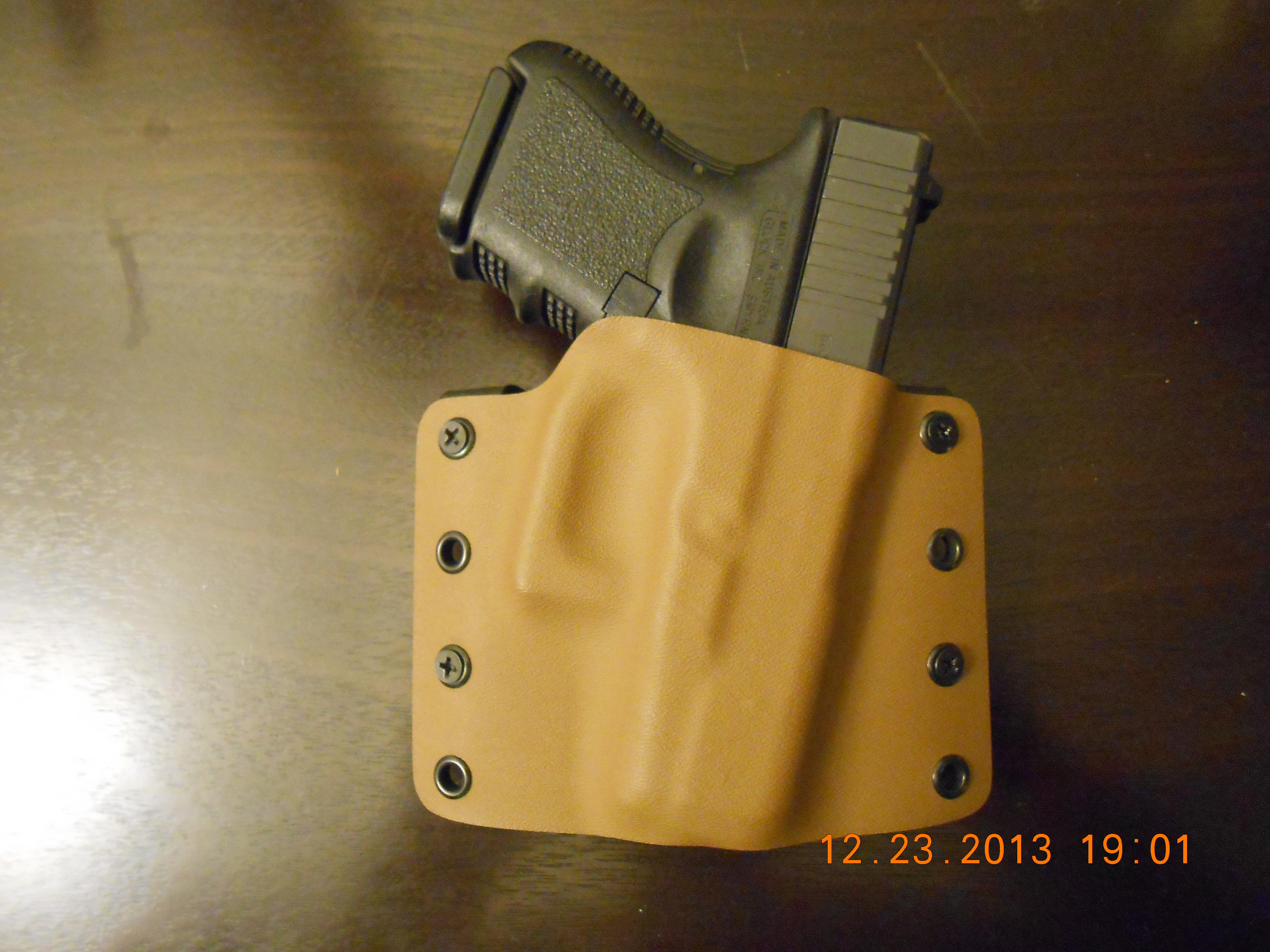 RP Concealment Custom Kydex Glock 26 HolsterRP Concealment Custom Kydex Coyote Brown Glock 26 Holster   Non-Guns > Holsters and Gunleather > Concealed Carry