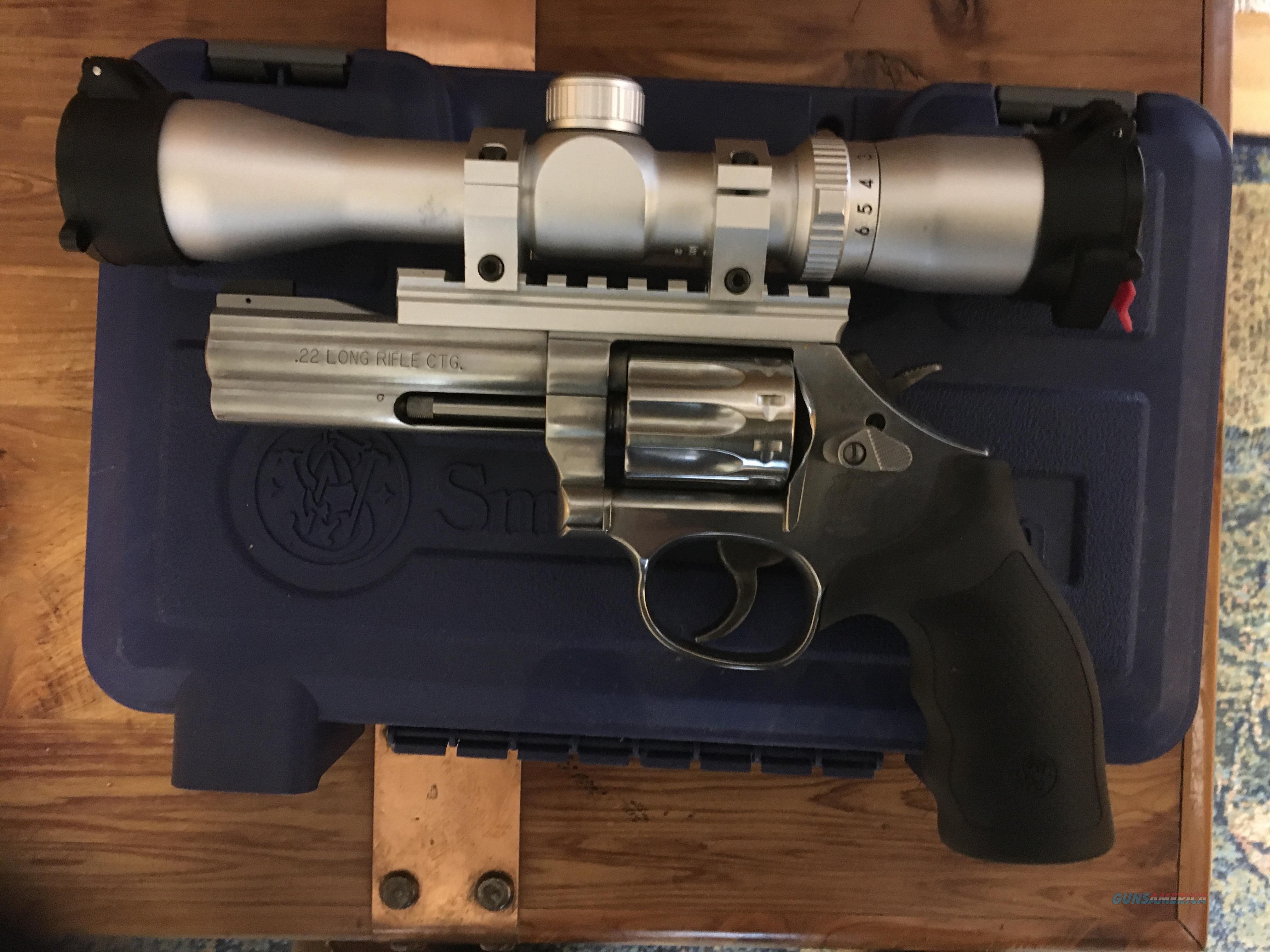 S&W model 617 w2-6pwr scope  Guns > Pistols > Smith & Wesson Revolvers > Full Frame Revolver
