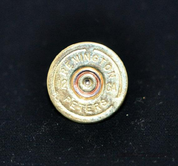 Remington Peters 12 Gauge Shotgun Shell Label Pin  Non-Guns > Shotgun Sports > Clothing