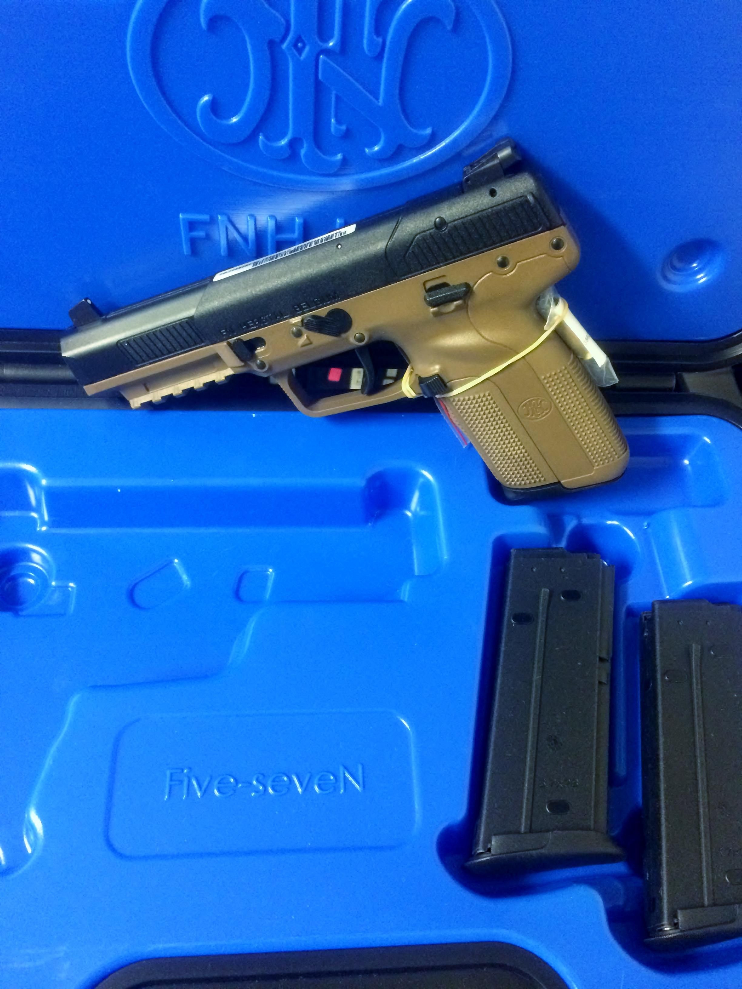 FN Five-SeveN FDE MKII +500RD of AMMO NO CC FEES  Guns > Pistols > FNH - Fabrique Nationale (FN) Pistols > FiveSeven