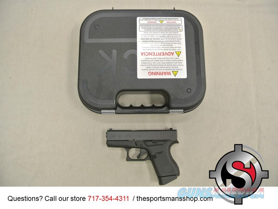 Glock 43 9mm Single Stack Pistol New in Box  Guns > Pistols > Glock Pistols > 42