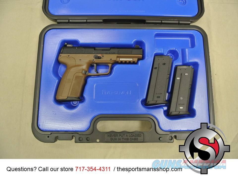 FNH Five Seven 5.7x28mm Flat Dark Earth Pistol New  Guns > Pistols > FNH - Fabrique Nationale (FN) Pistols > FiveSeven