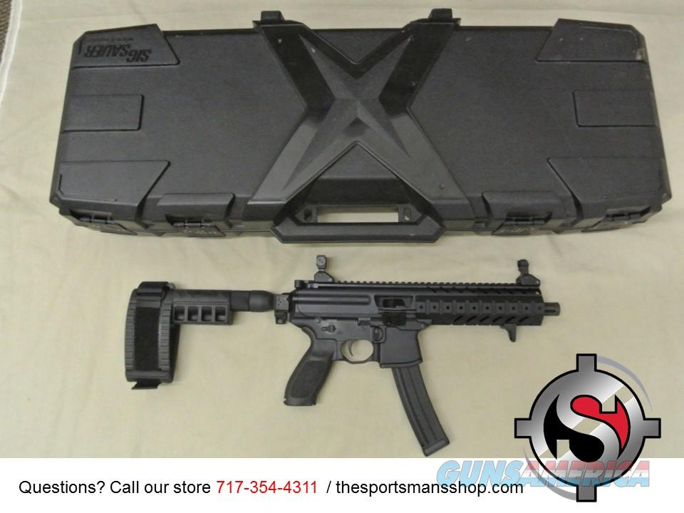 Sig Sauer MPX-P Pistol 9mm w Brace & Case Used  Guns > Rifles > Sig - Sauer/Sigarms Rifles