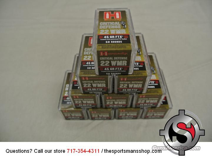 Hornady Critical Defense 22 WMR 500 Rounds Brick New  Non-Guns > Ammunition