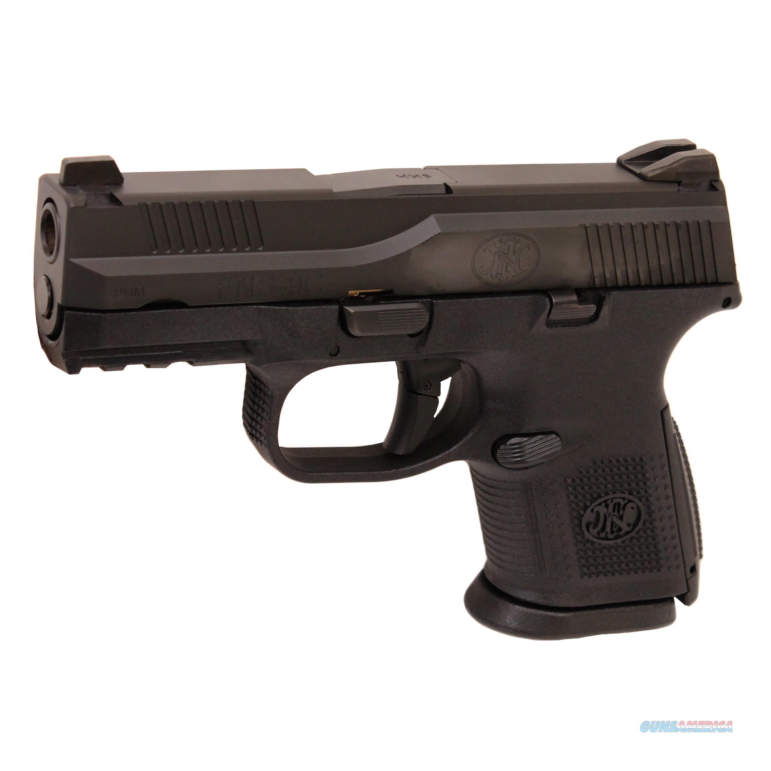 "FNLE FNS-9C Pistol 9mm, 3.60"" Barrel, 17 Rounds, Black  Guns > Pistols > FNH - Fabrique Nationale (FN) Pistols > FNS"
