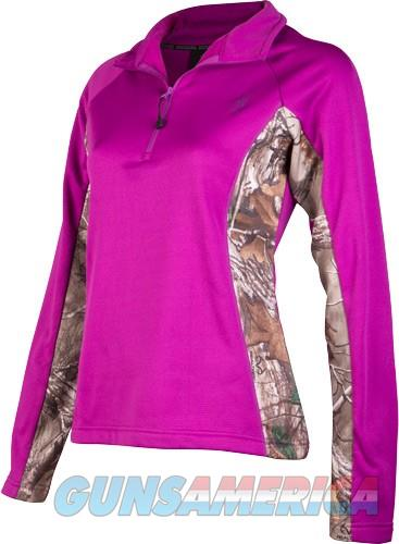 BROWNING WOMEN'S L.SLEEVE PULLOVER LARGE 1/4 ZIP PURPLE/CAMO  Non-Guns > Logo & Clothing Merchandise