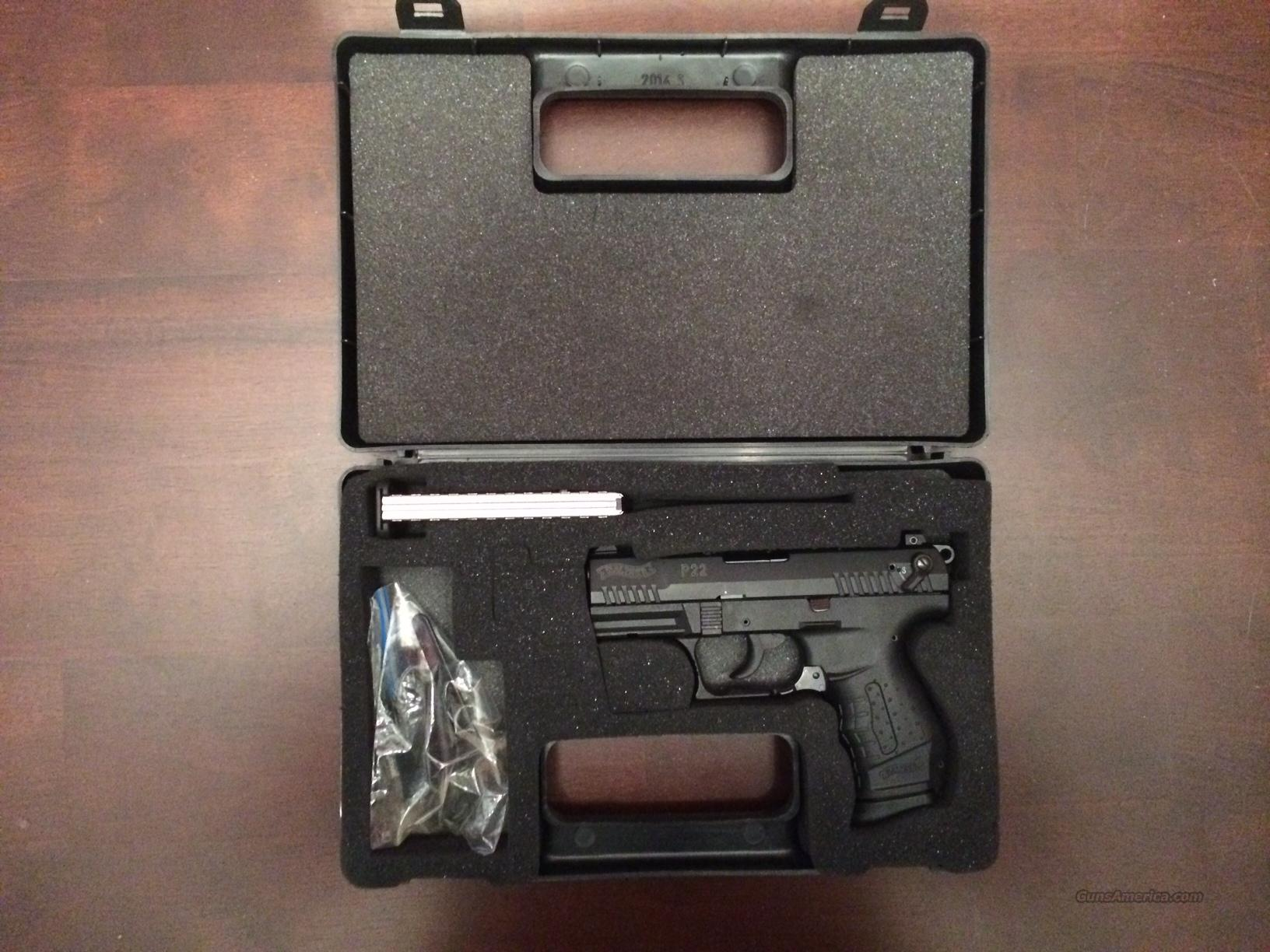 Walther P22 22LR Black with case and 2 magazines  Guns > Pistols > Walther Pistols > Post WWII > P22