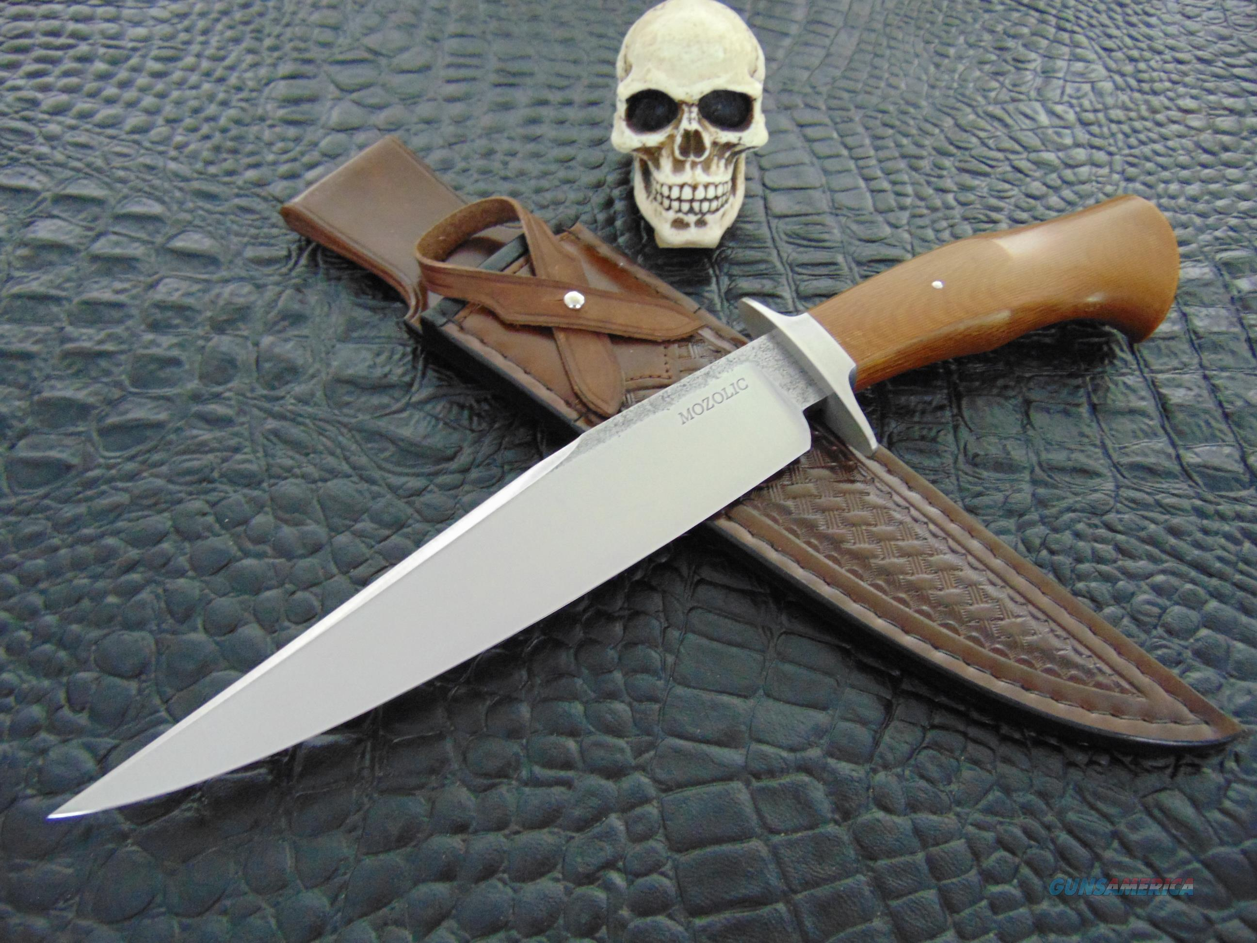 Milan Mozolic Gorgeous Hand Forged W2 Fighter / Bowie  Non-Guns > Knives/Swords > Knives > Fixed Blade > Hand Made
