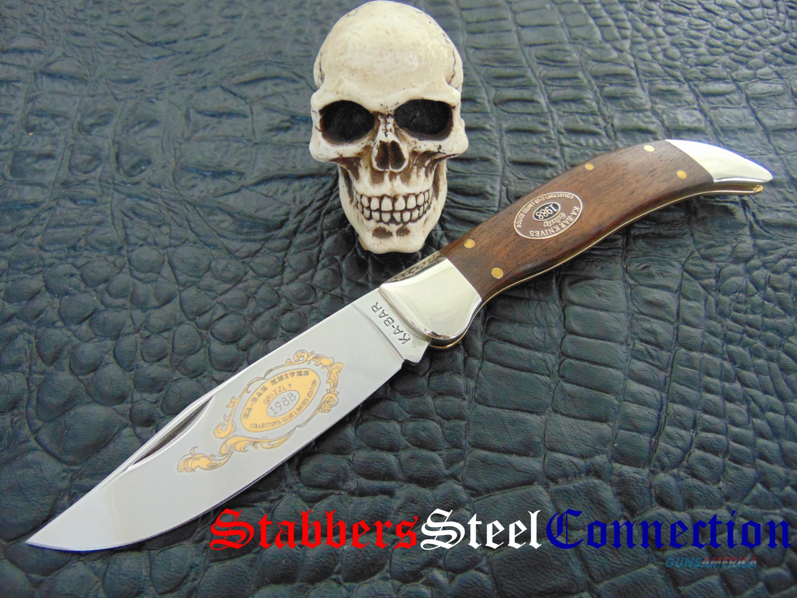 KA-Bar Grizzly LTD 1988 Collectors Club knives Made 1988  Non-Guns > Knives/Swords > Knives > Folding Blade > Hand Made