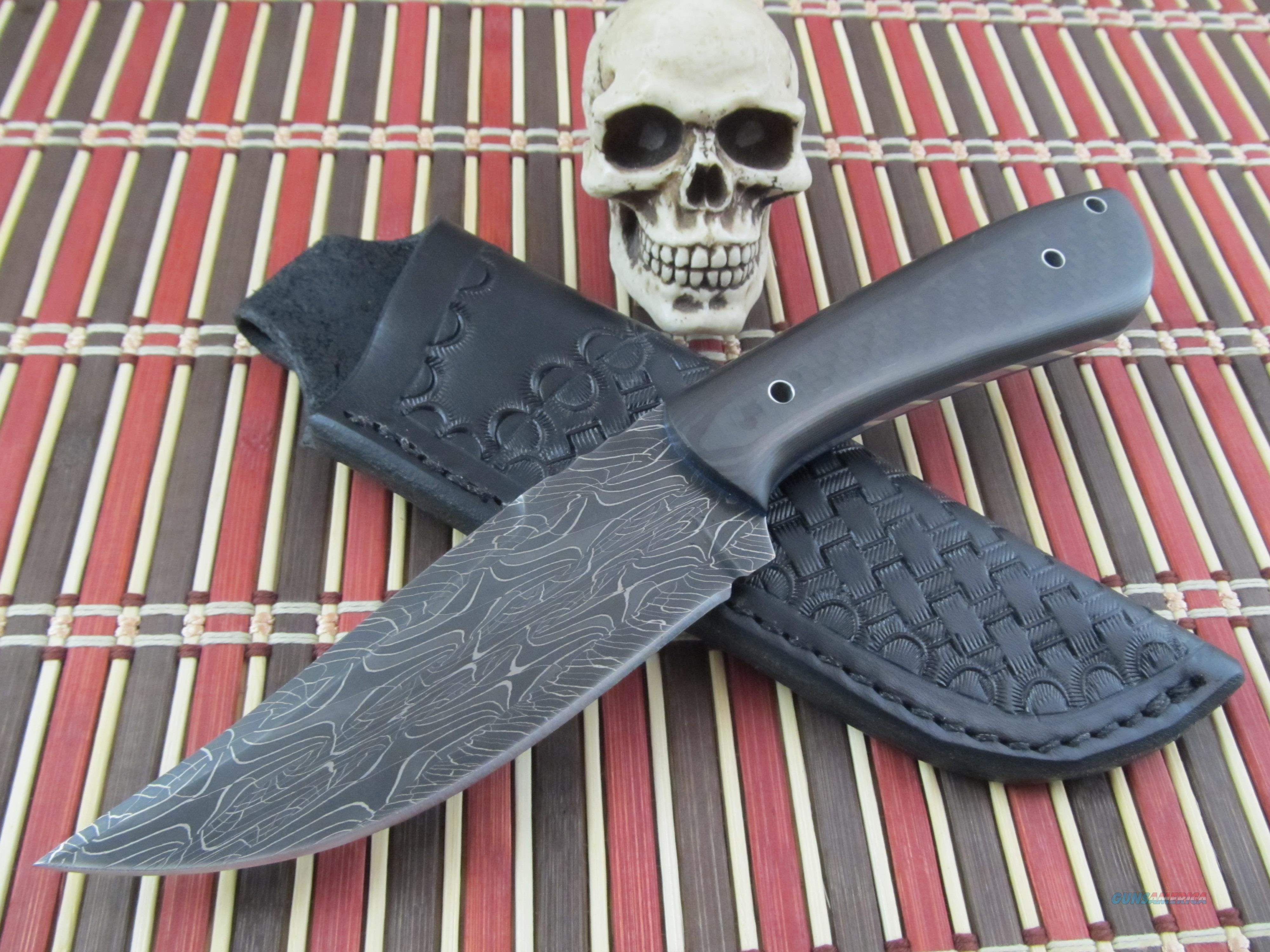BackWoods Knives Bill Akers Owner / Maker Custom Handmade Damascus / Carbon Fiber Hunter / Fighter / EDC  Non-Guns > Knives/Swords > Knives > Fixed Blade > Hand Made