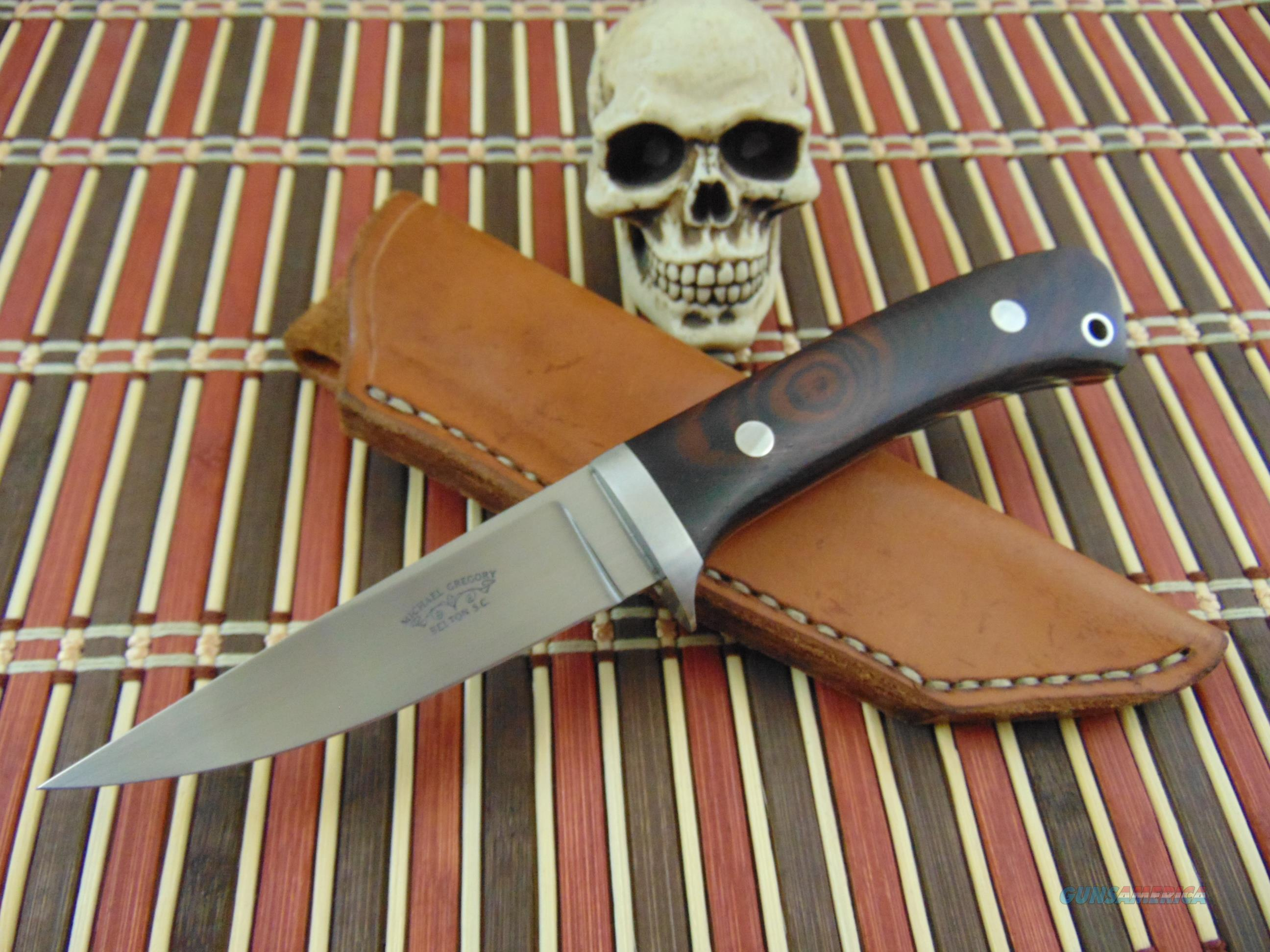 Michael Gregory Custom Hand Made Bird And Trout Model  Non-Guns > Knives/Swords > Knives > Fixed Blade > Hand Made