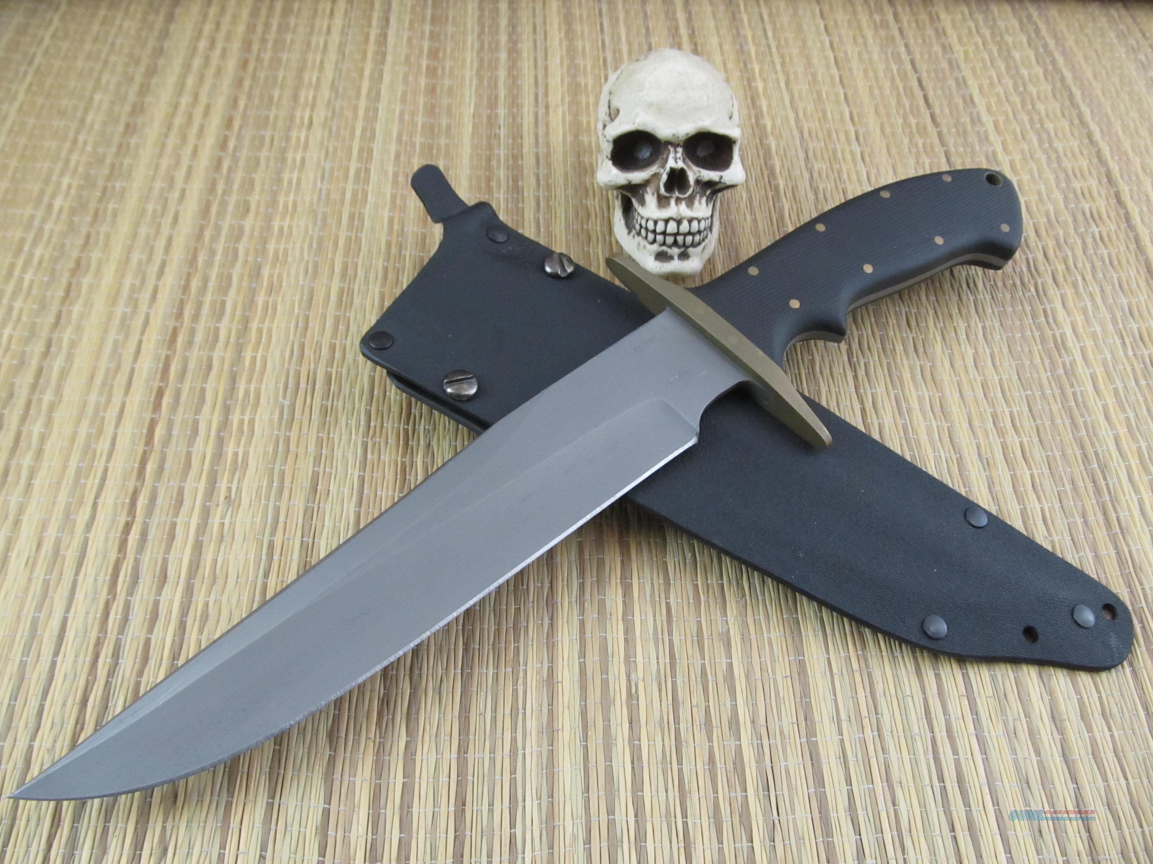 Rob Patton Grande Bowie / Fighter Hand Forged 1080 Steel  Non-Guns > Knives/Swords > Knives > Fixed Blade > Hand Made