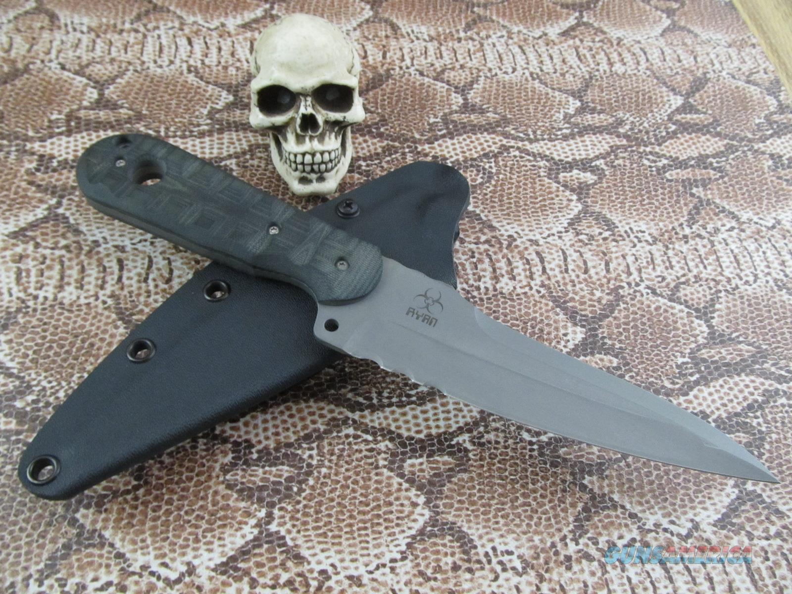 Steve Ryan Custom Handmade Plan P Fighter  Non-Guns > Knives/Swords > Knives > Fixed Blade > Hand Made