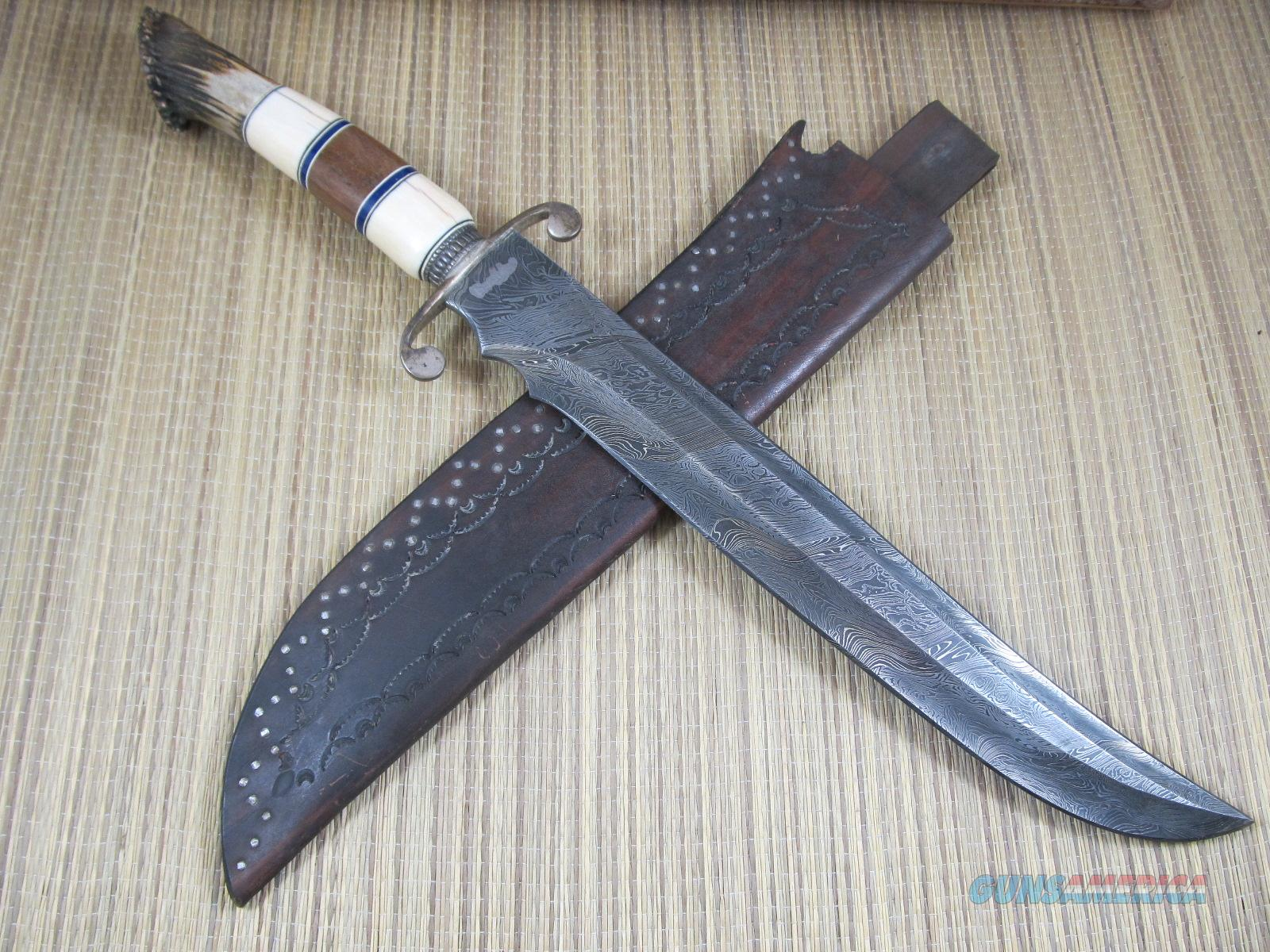 Norman Bardsley Damascus Short Sword / Fighter  Non-Guns > Knives/Swords > Knives > Fixed Blade > Hand Made