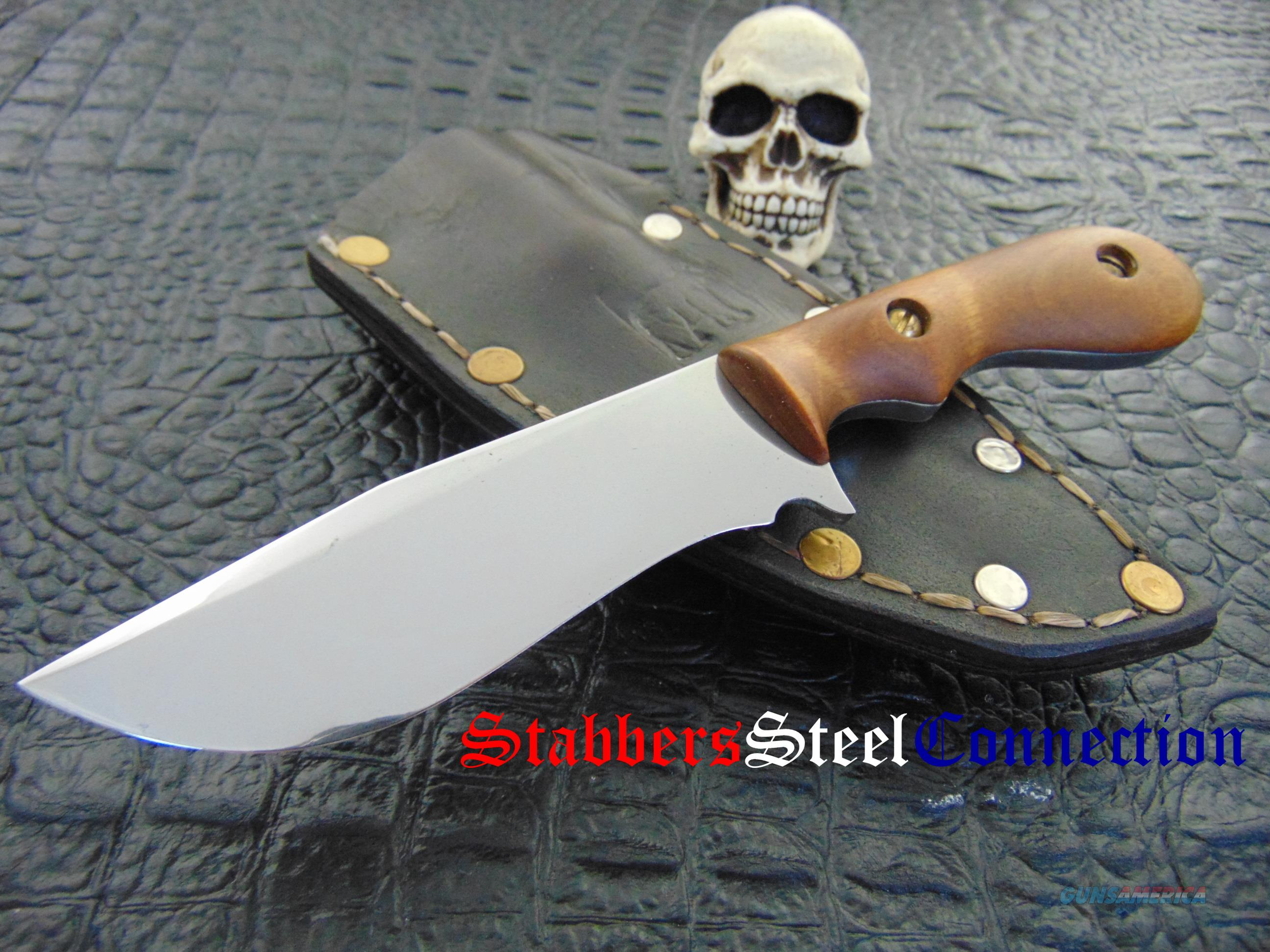 Larson Forge & Finish Custom Handmade Hand Forged Recurve Fighter / Hunter  Non-Guns > Knives/Swords > Knives > Fixed Blade > Hand Made