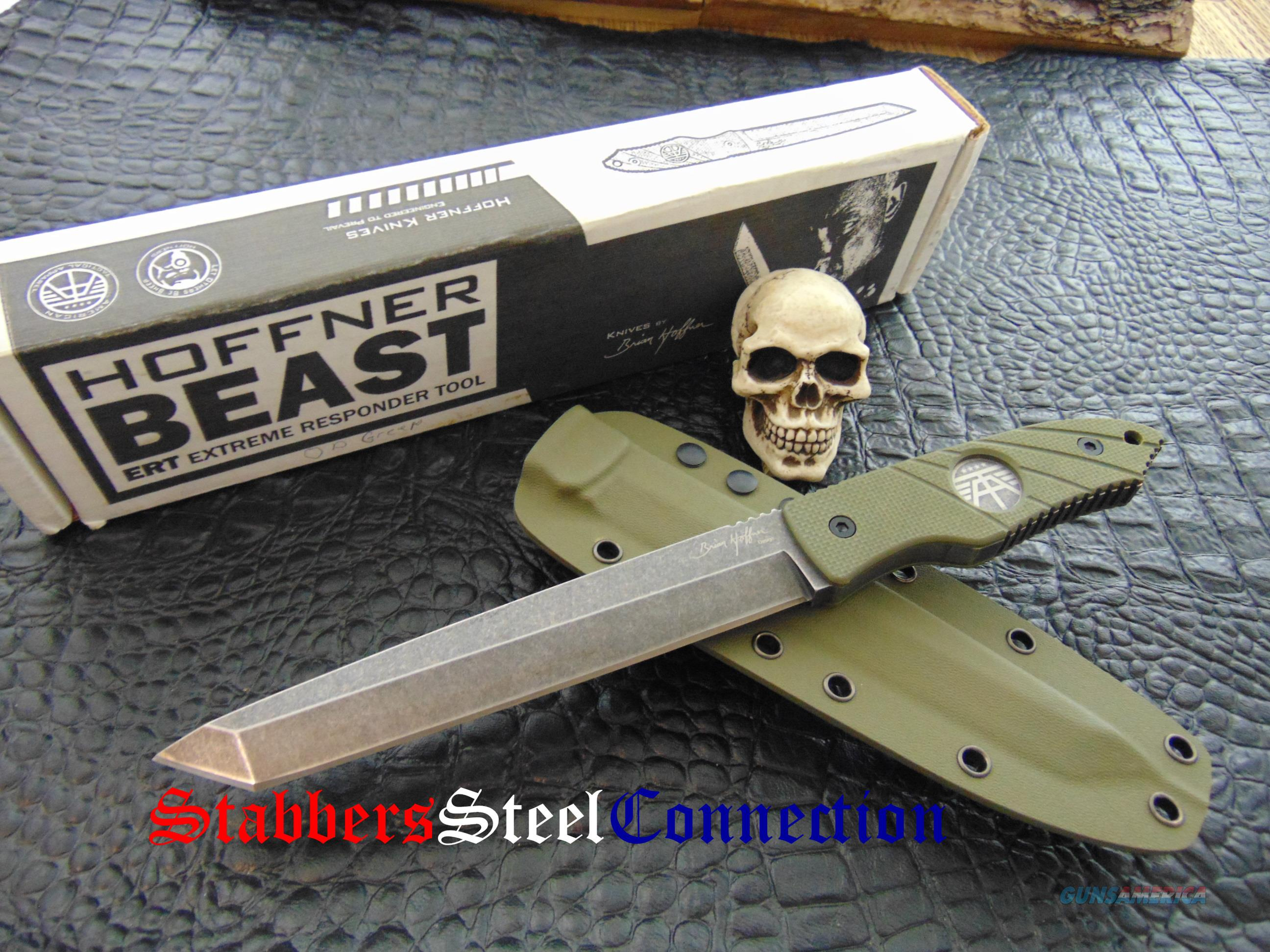 Hoffner Knives BEAST ERT  Non-Guns > Knives/Swords > Knives > Fixed Blade > Hand Made