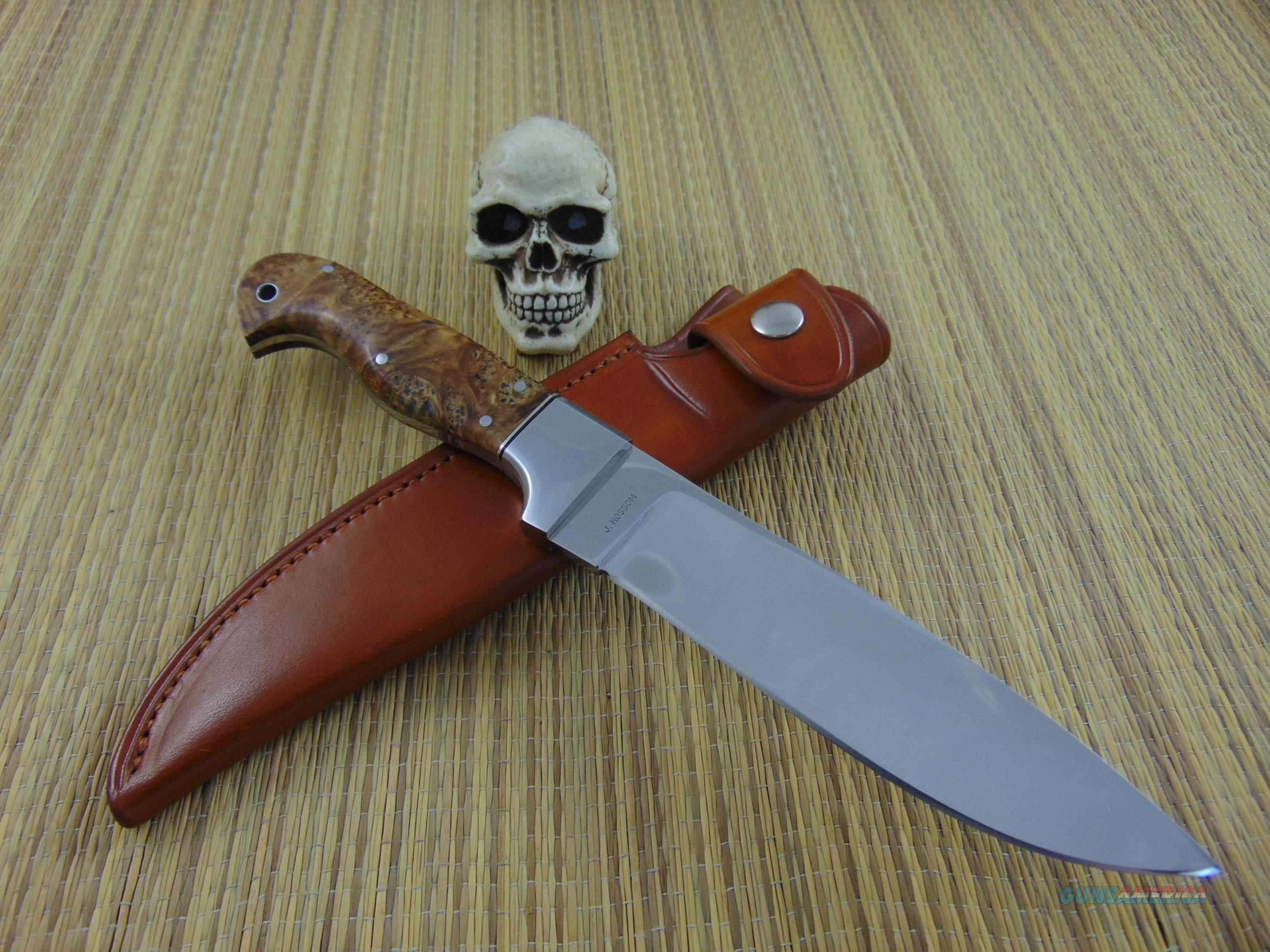 Jerry Hossom Custom Handmade Camp Knife / Fighter  Non-Guns > Knives/Swords > Knives > Fixed Blade > Hand Made