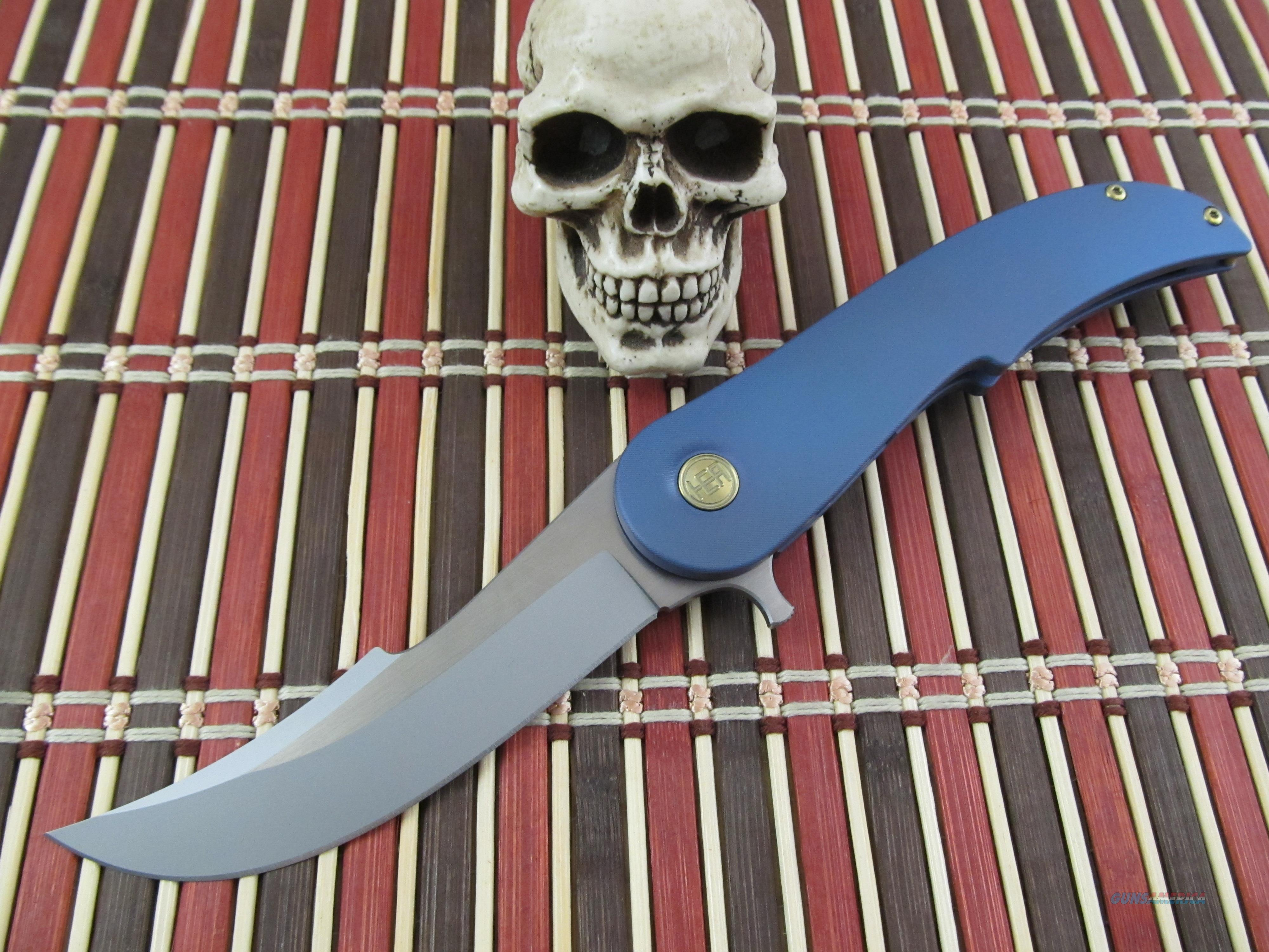 HEAdesigns Equilibrium Frame Lock Flipper Blue  Non-Guns > Knives/Swords > Knives > Folding Blade > Hand Made