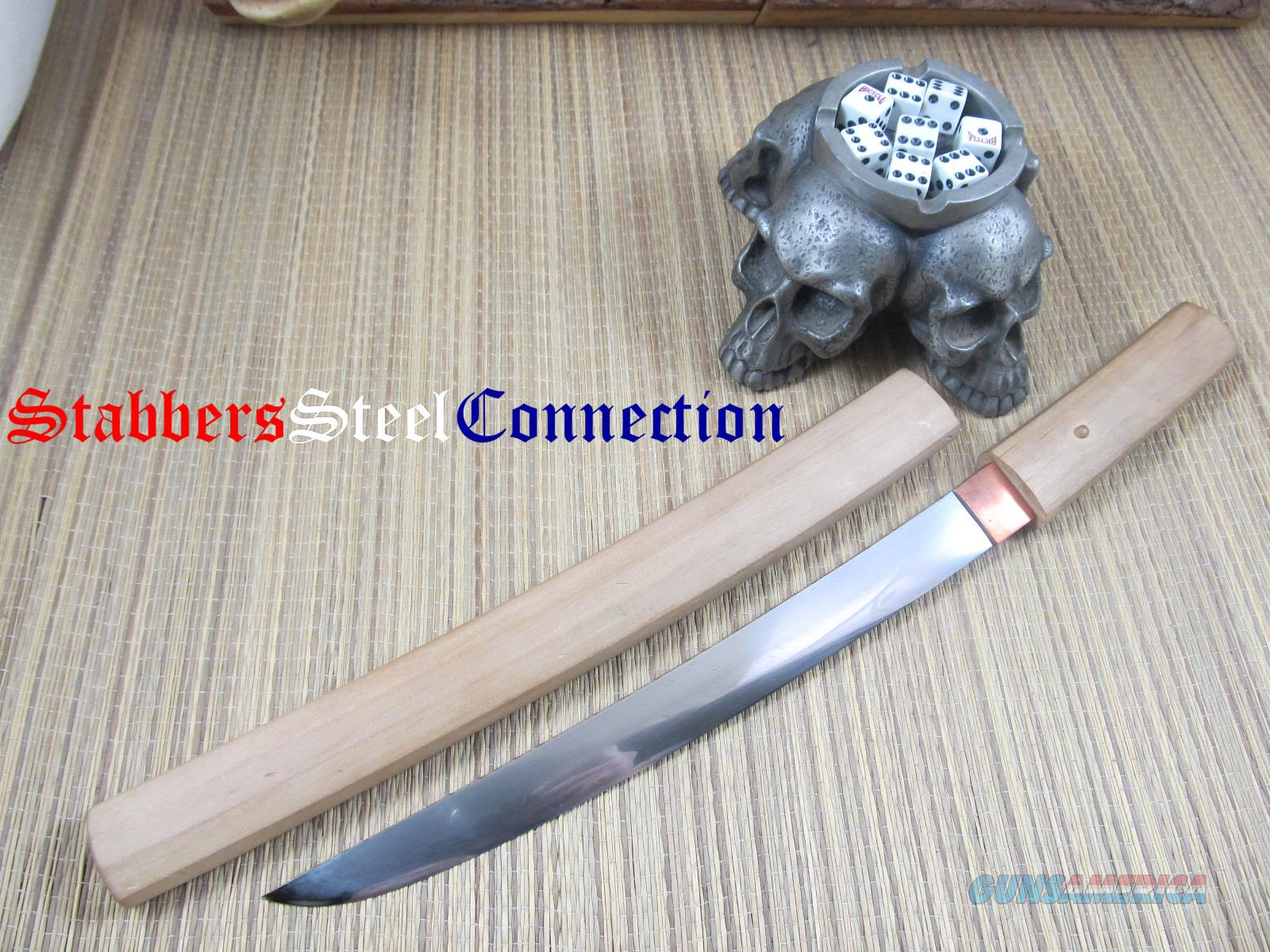 Japanese Style Cable Damascus Tanto W/ Siya Unknown Maker    Non-Guns > Knives/Swords > Knives > Fixed Blade > Hand Made