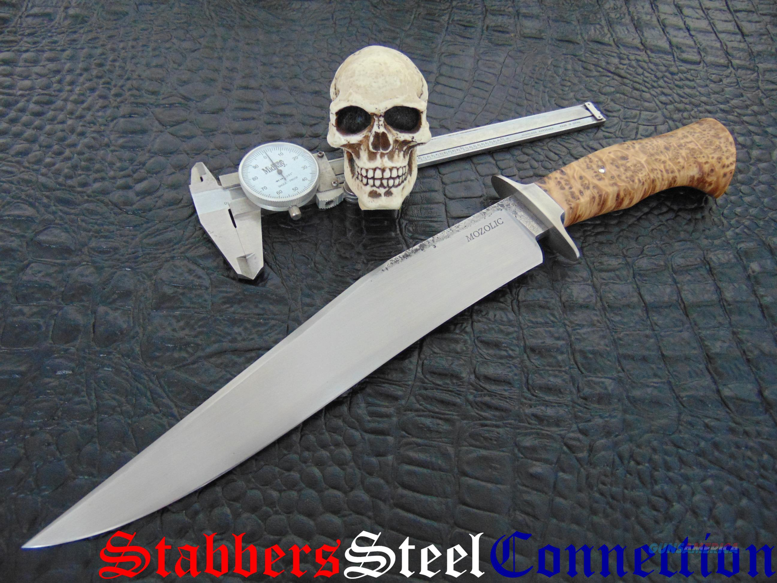 Milan Mozolic Gorgeous 14 1/2 Inch !!! Re-Curve Fighter / Bowie  Non-Guns > Knives/Swords > Knives > Fixed Blade > Hand Made
