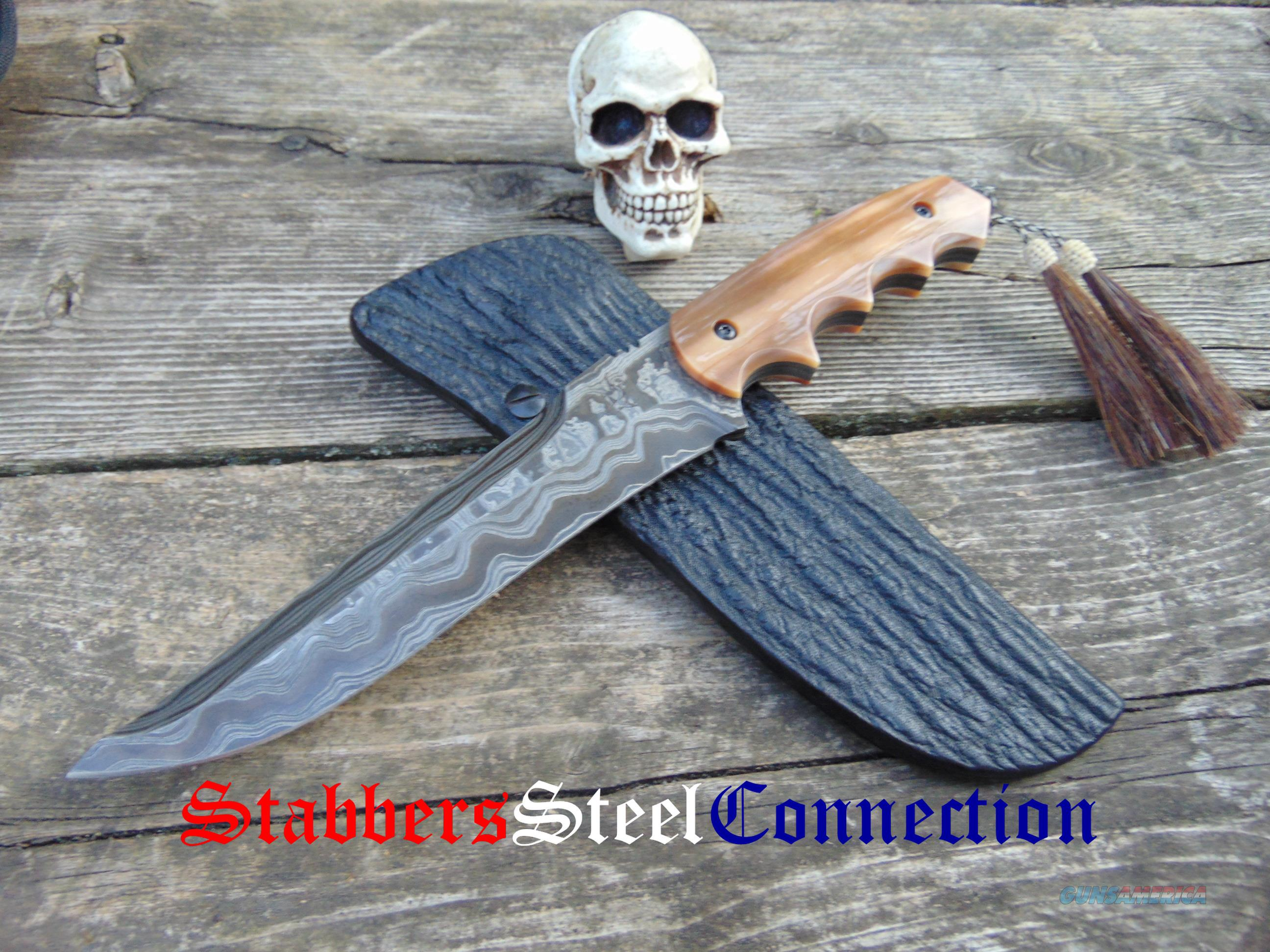 Greg Lightfoot Custom Handmade Incredible Damascus Fancy Hog Hunter  Non-Guns > Knives/Swords > Knives > Fixed Blade > Hand Made