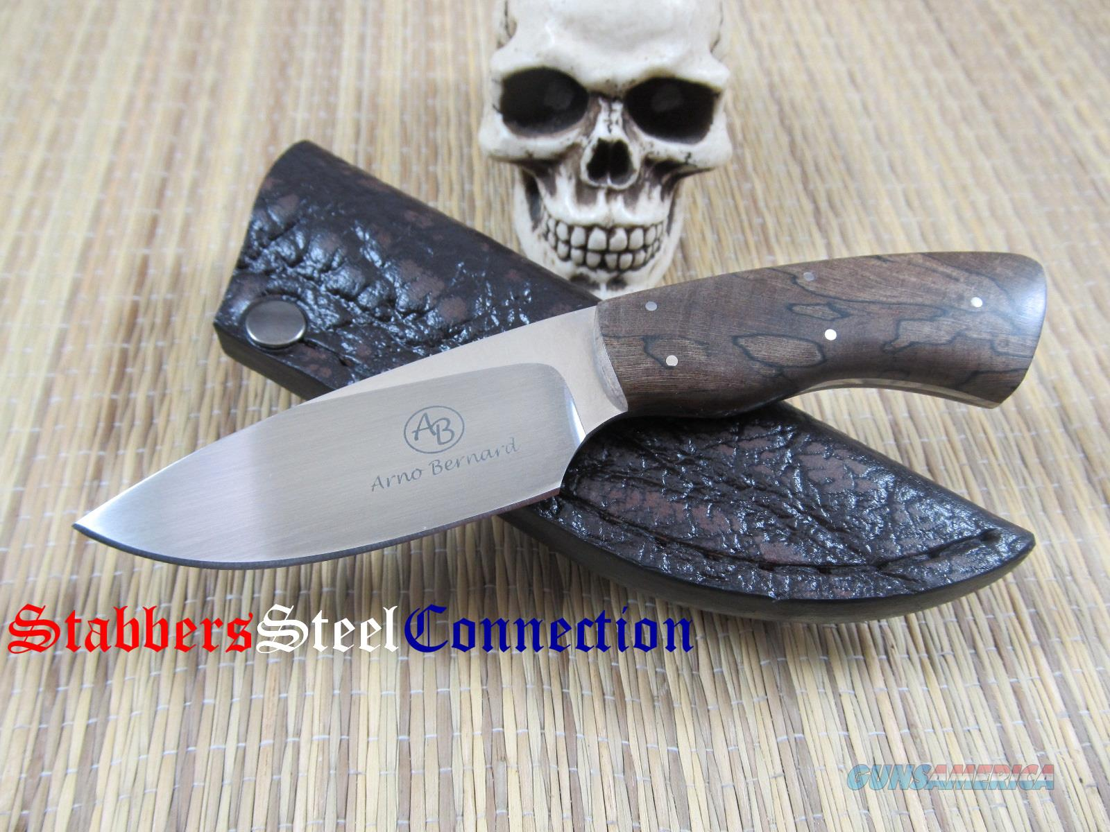 Arno Bernard Bush Baby Gecko Spalted Maple Handle  Non-Guns > Knives/Swords > Knives > Fixed Blade > Hand Made
