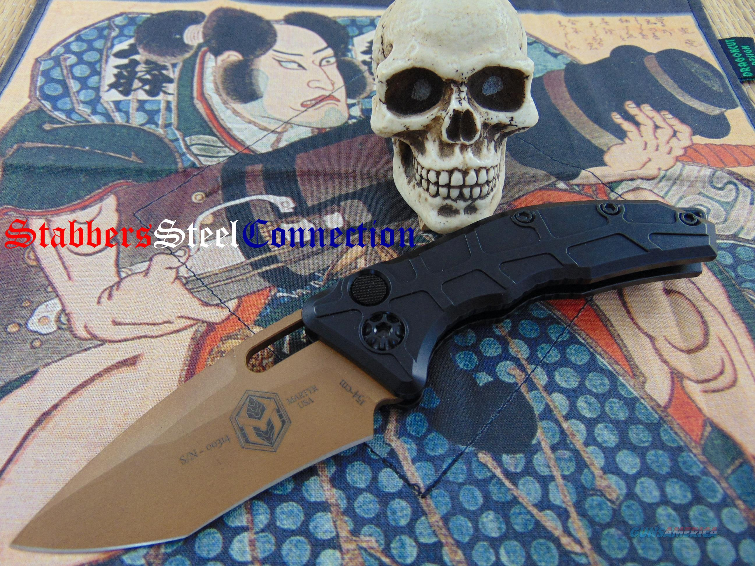 Heretic Knives / Anthony Marfione Jr Martyr Auto Tan Tanto Recurve  Non-Guns > Knives/Swords > Knives > Folding Blade > Hand Made