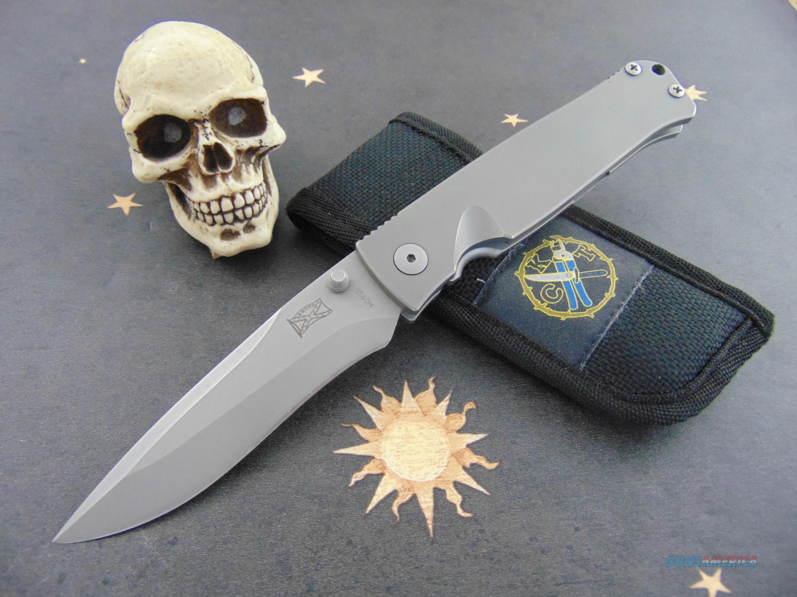 Cutters Knife and tool Walter Brend#2 Tactical M/A Model Brend Logo on Blade Serial # 0023  Non-Guns > Knives/Swords > Knives > Folding Blade > Hand Made