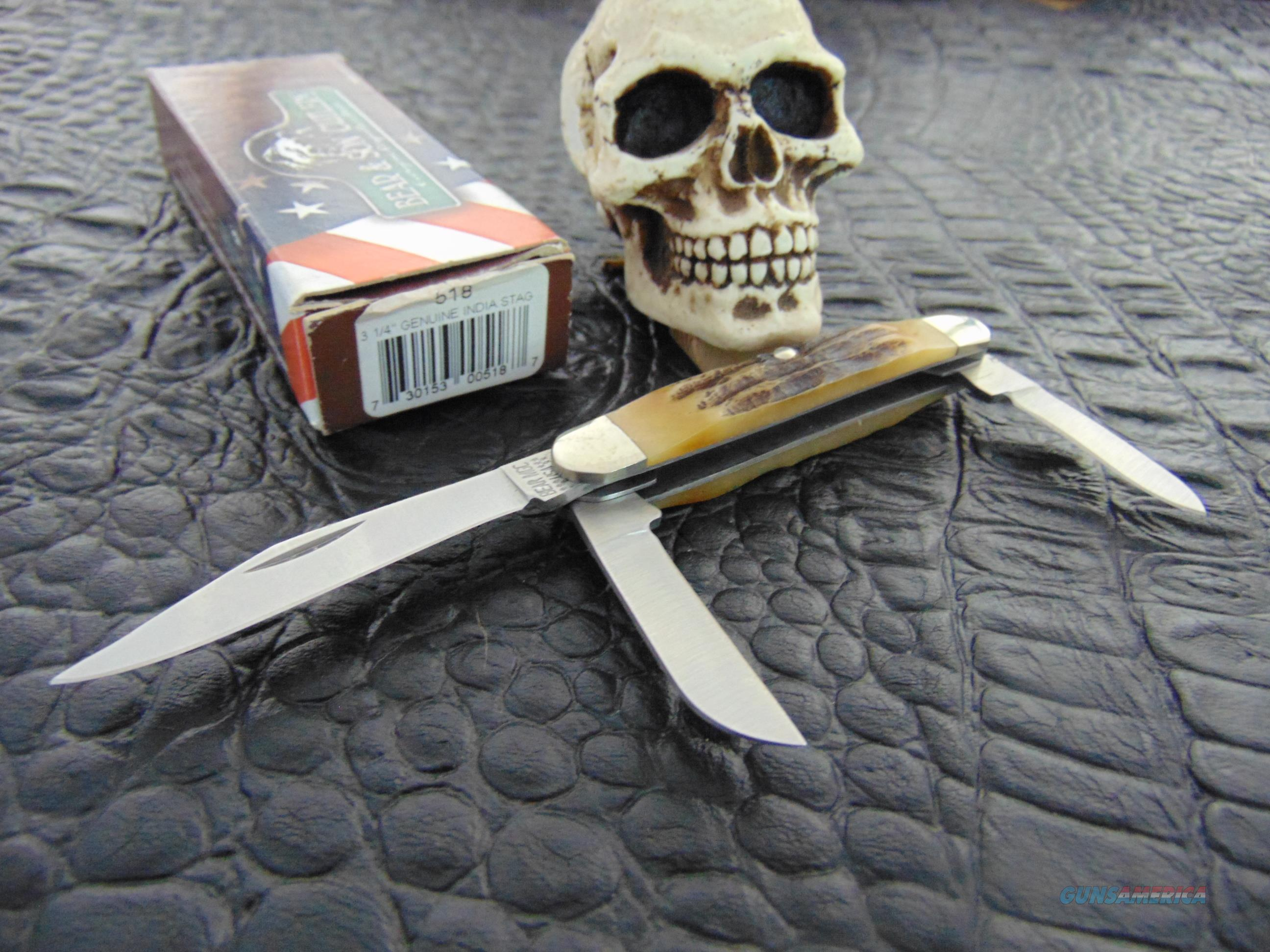 Bear & Sons Cutlery Model 518 STAG Stockman  Non-Guns > Knives/Swords > Knives > Folding Blade > Hand Made