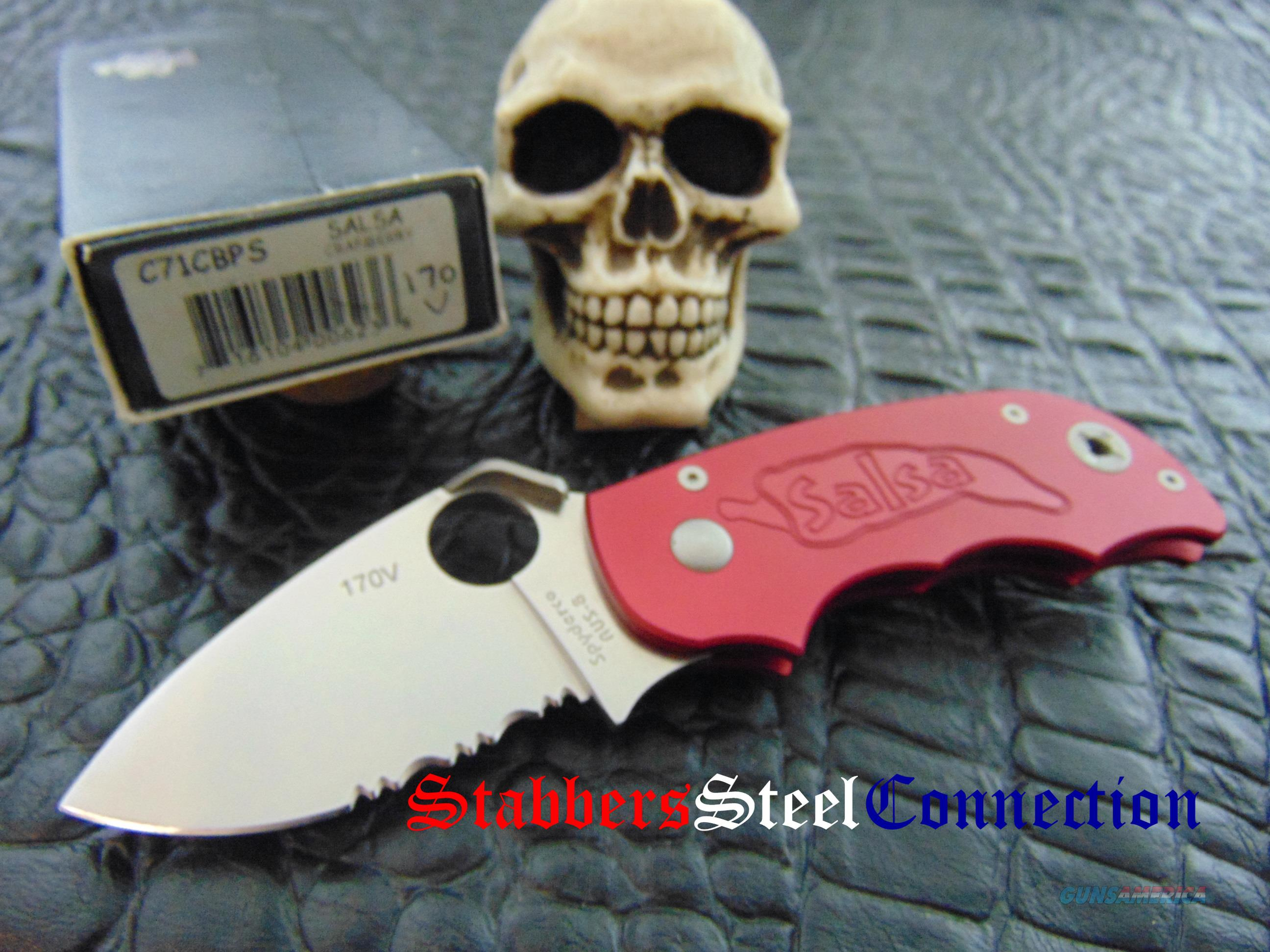 Spyderco Knives Vintage Salsa Model C71CBPS Collectors Club knife numbered 170 of 200  Non-Guns > Knives/Swords > Knives > Folding Blade > Imported