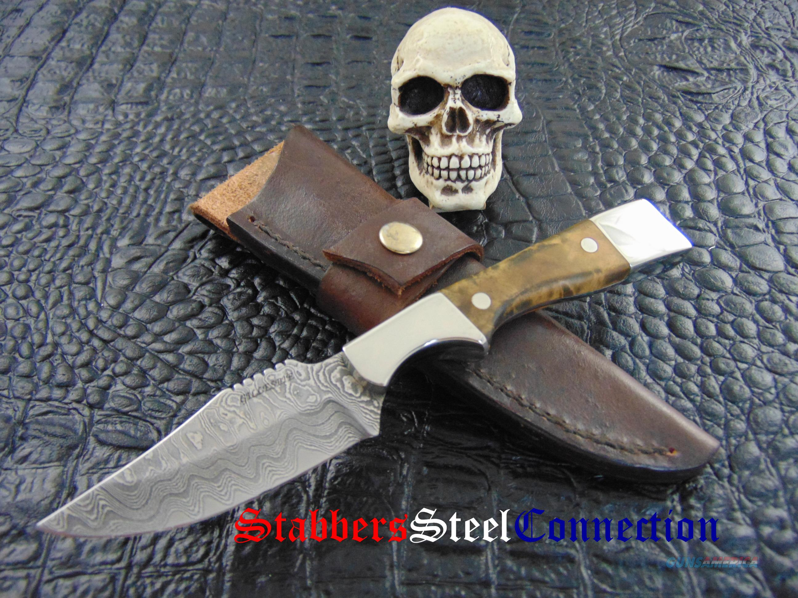 Bruce Gillespie Custom hand MadeSan Mai Damascus EDC / Hunting Knife  Non-Guns > Knives/Swords > Knives > Fixed Blade > Hand Made
