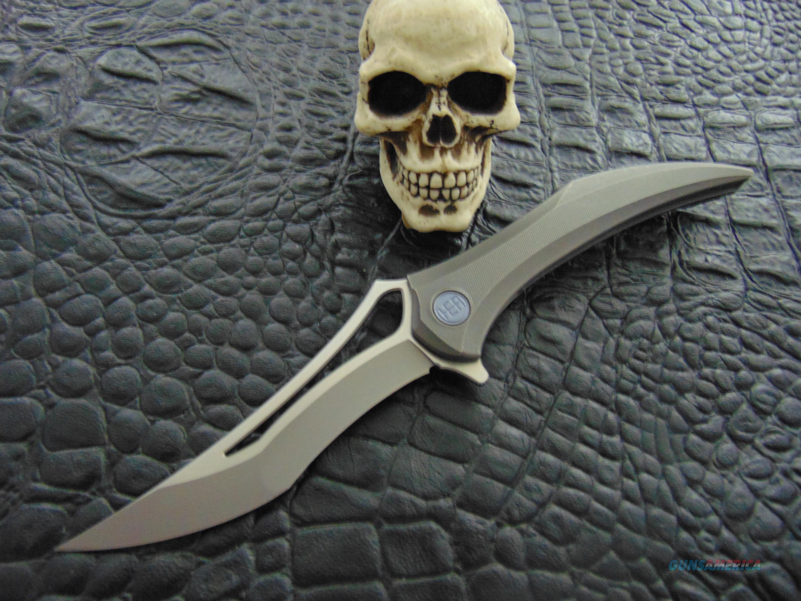 HEAdesigns }} Flame {{ INTEGRAL Frame Lock Flipper Grey  Non-Guns > Knives/Swords > Knives > Folding Blade > Hand Made