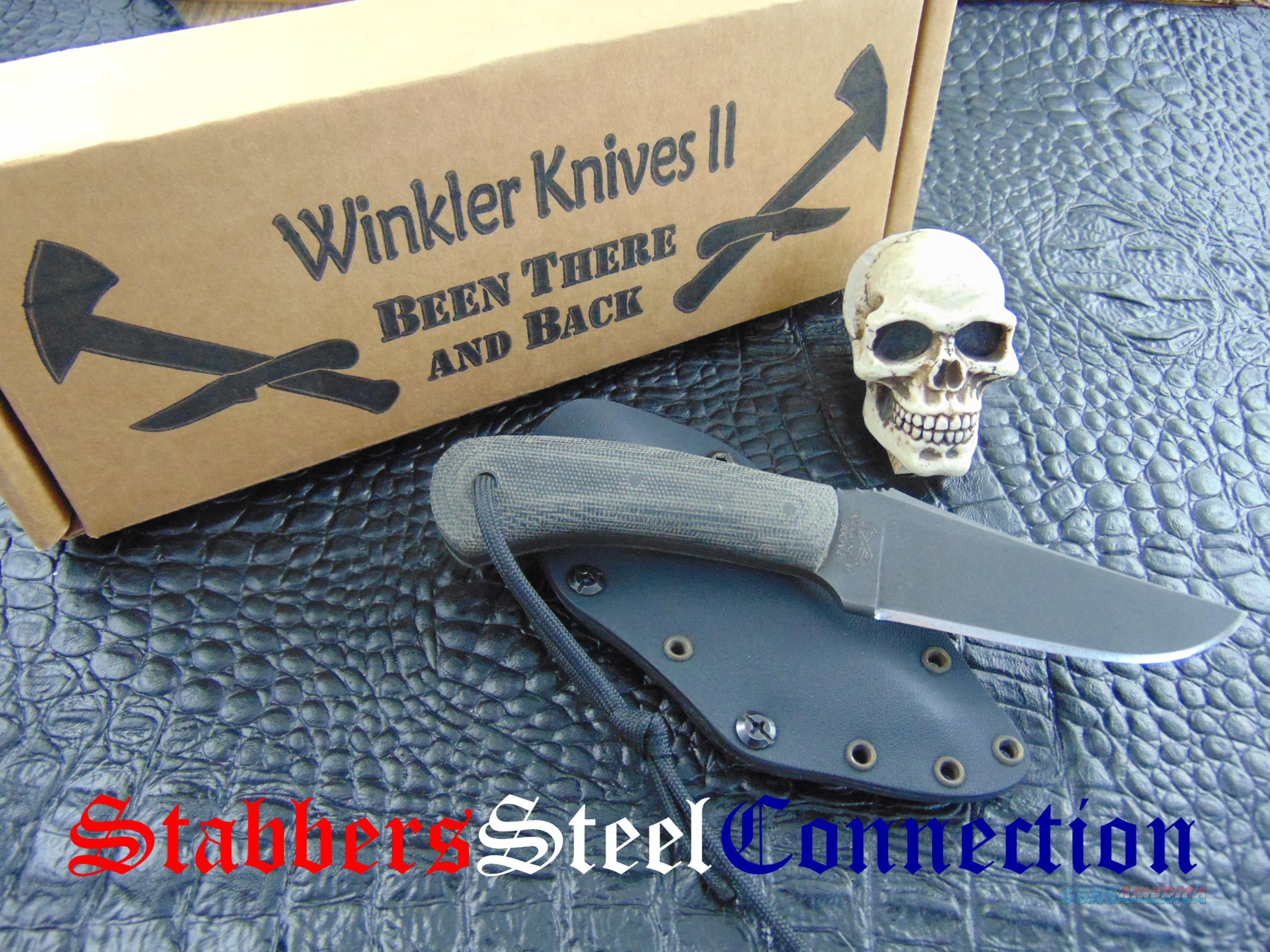 Dan Winkler MS ABS Master Smith Micarta Blue Ridge Hunter Model  Non-Guns > Knives/Swords > Knives > Folding Blade > Hand Made