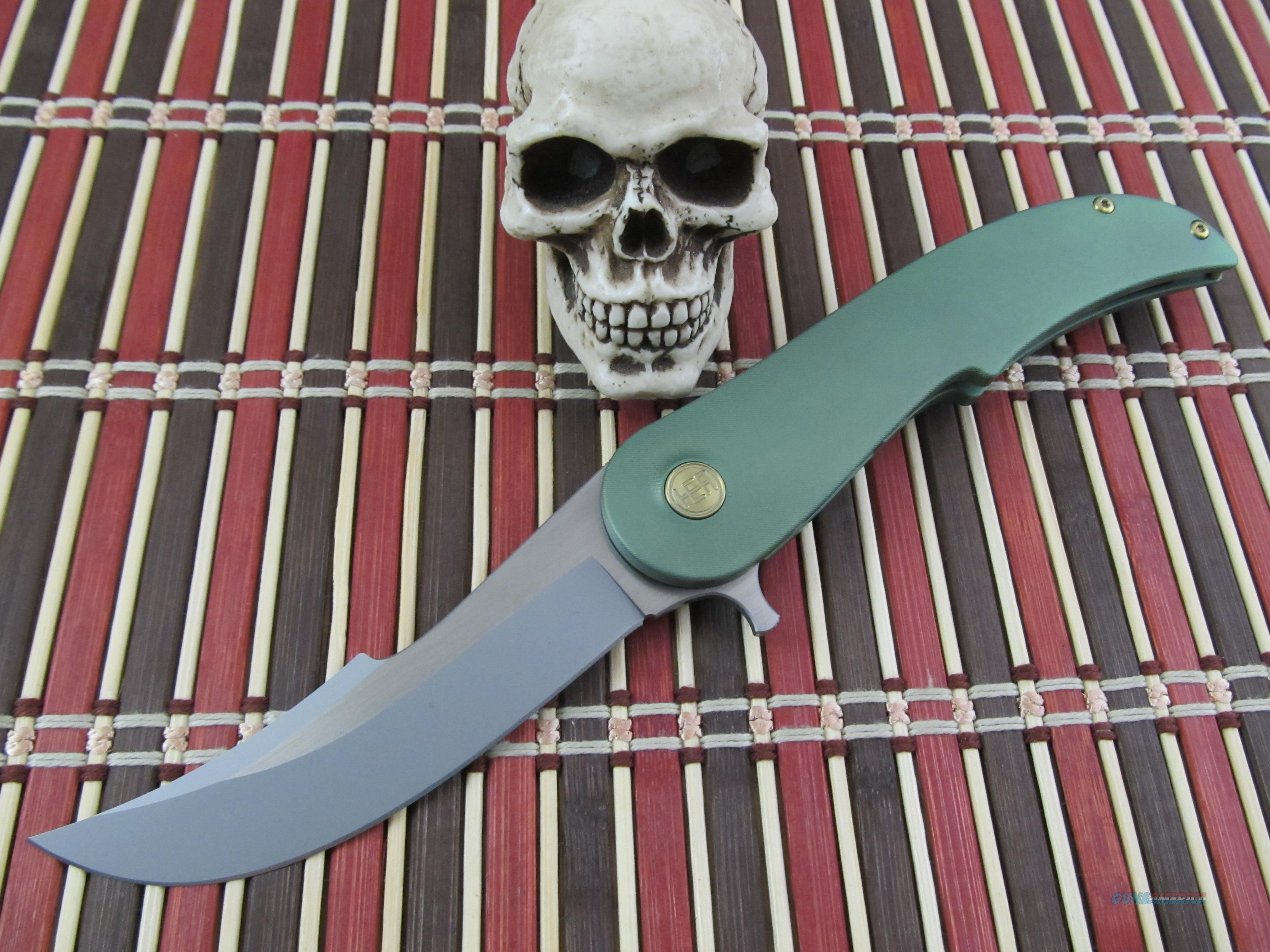 HEAdesigns Equilibrium Frame Lock Flipper Green  Non-Guns > Knives/Swords > Knives > Folding Blade > Hand Made