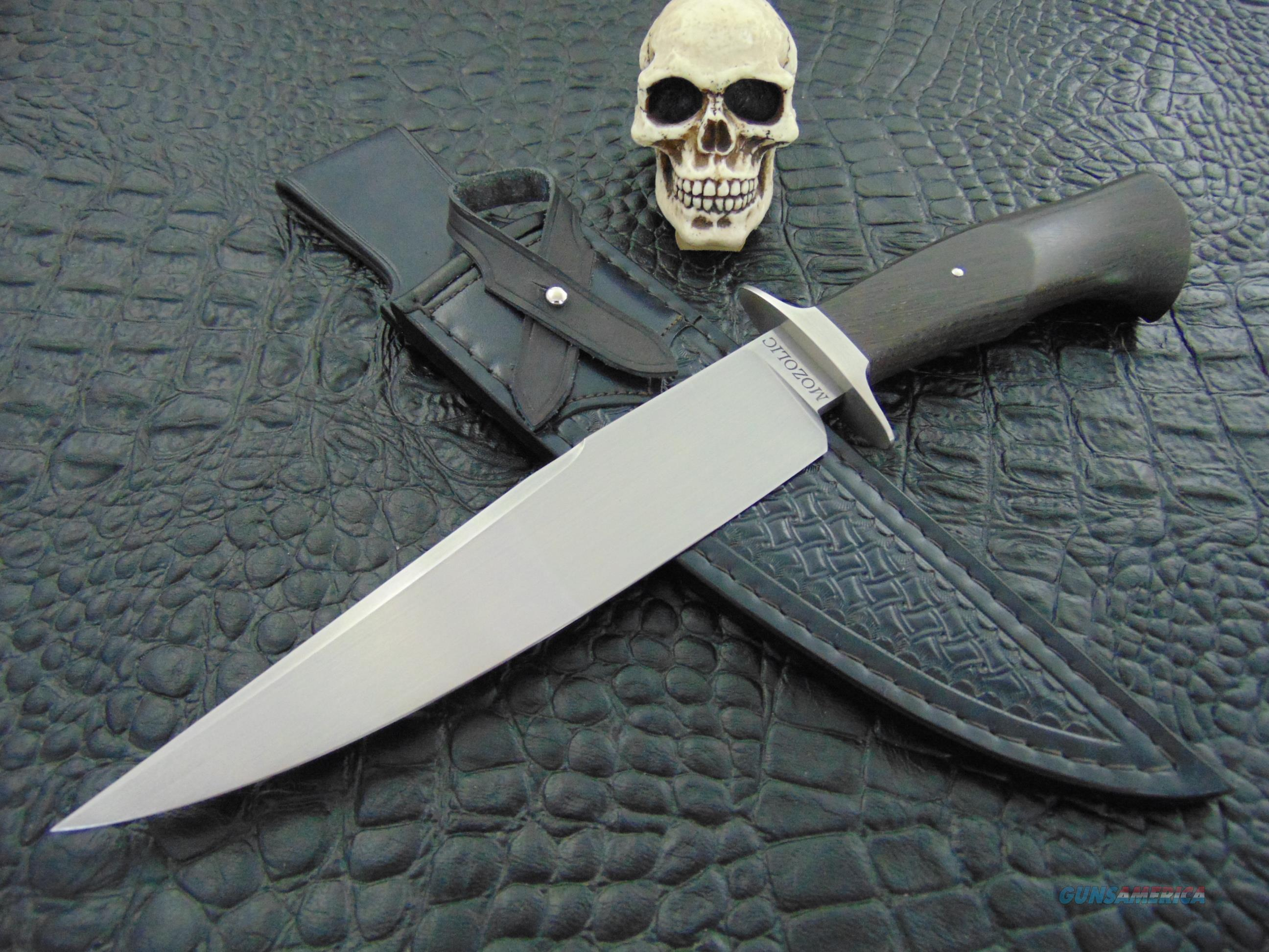 Milan Mozolic  Hand Forged Bog Oak Fighter / Bowie  Non-Guns > Knives/Swords > Knives > Fixed Blade > Hand Made