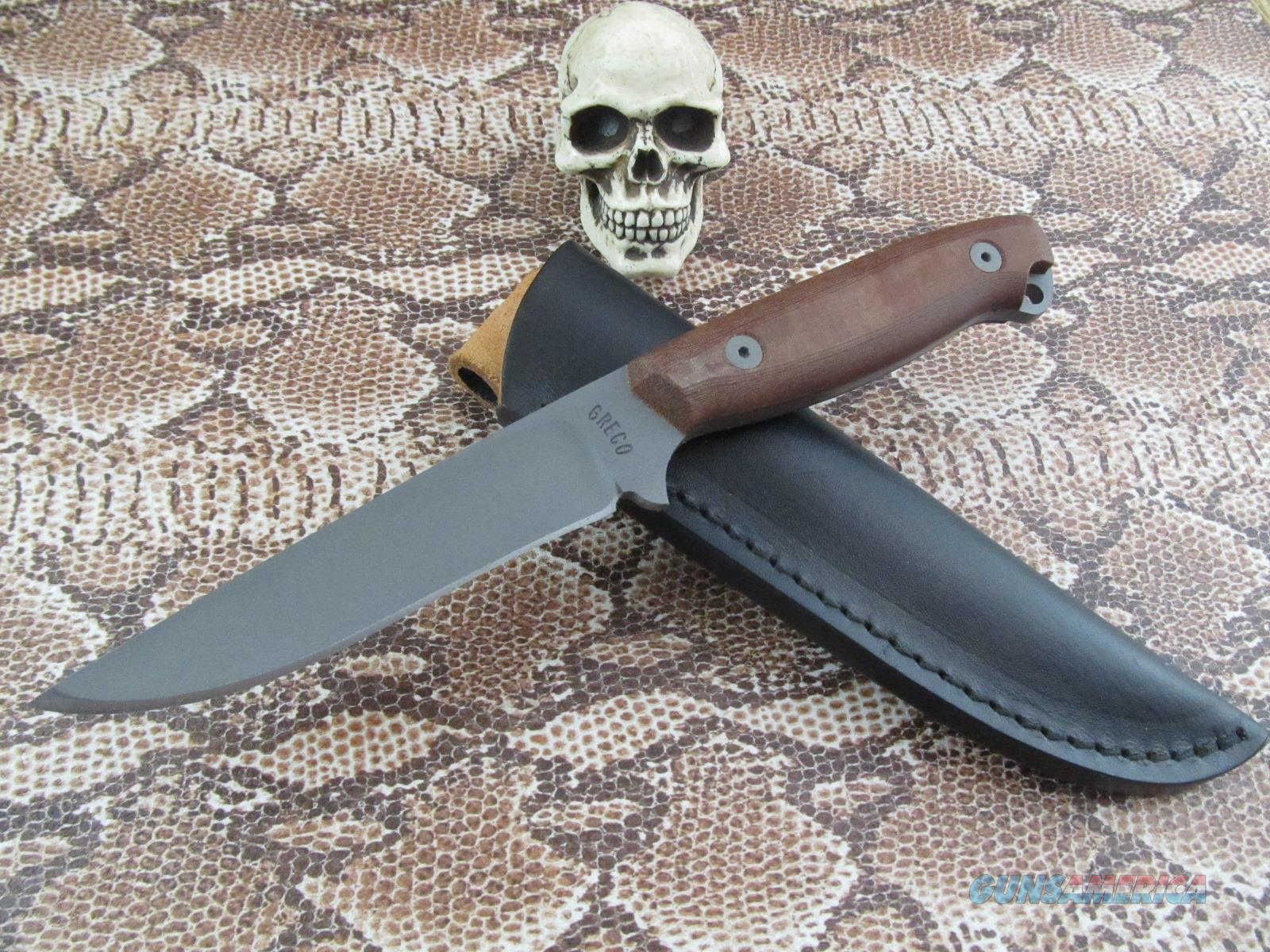 John Greco Custom Handmade Model 8 Fighter  Non-Guns > Knives/Swords > Knives > Fixed Blade > Hand Made
