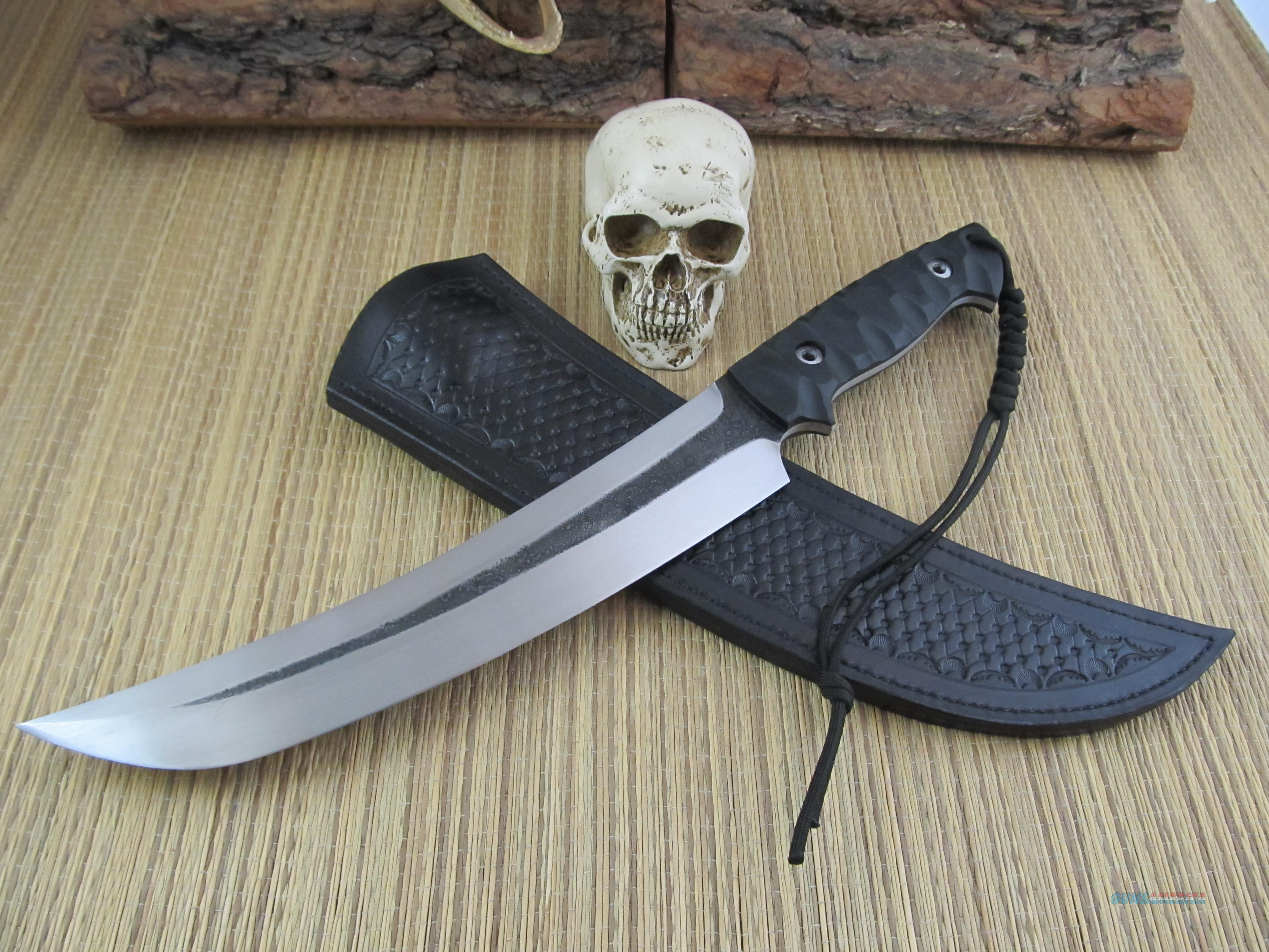 Giedymin Kapuscinski Knives Huge Tanto Style Fighter / Chopper  Non-Guns > Knives/Swords > Knives > Fixed Blade > Hand Made